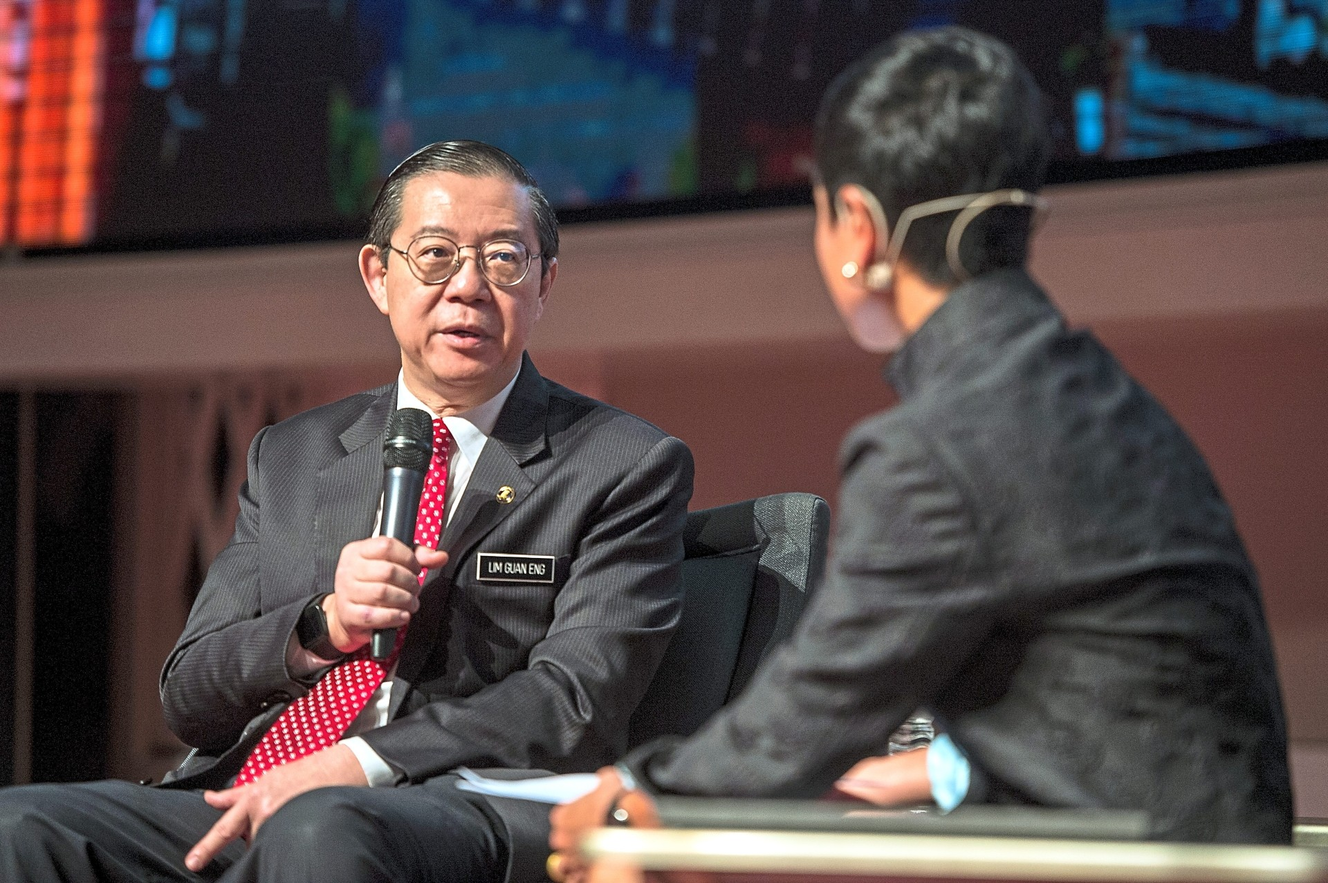 Finance Minister Lim Guan Eng speaking during Budget 2020 Forum - Filepic