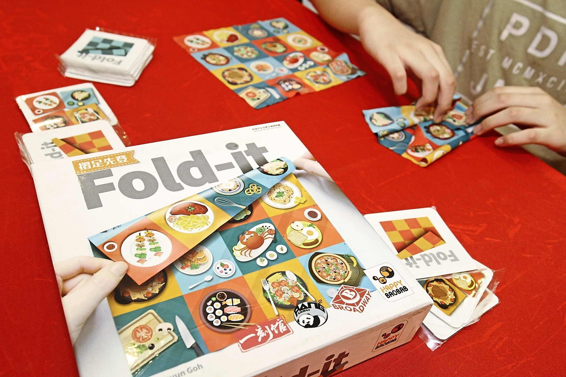 A closeup of a tabletop game