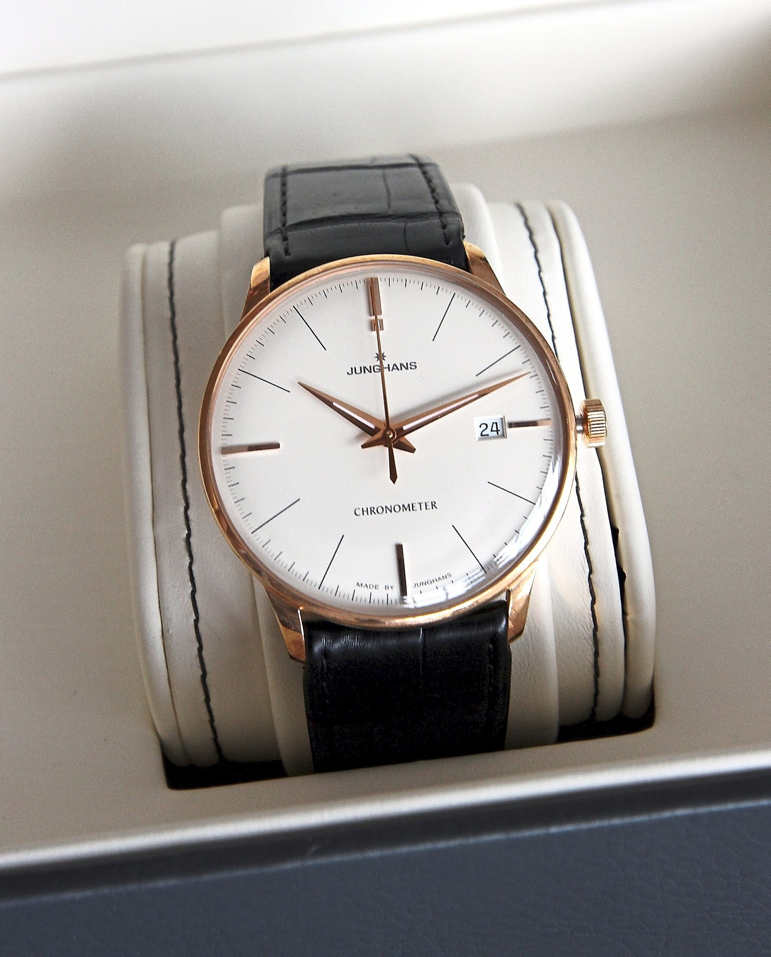 Junghans Meister Chronometer Gold  was regarded as 'the first German time  in Malaysia'.