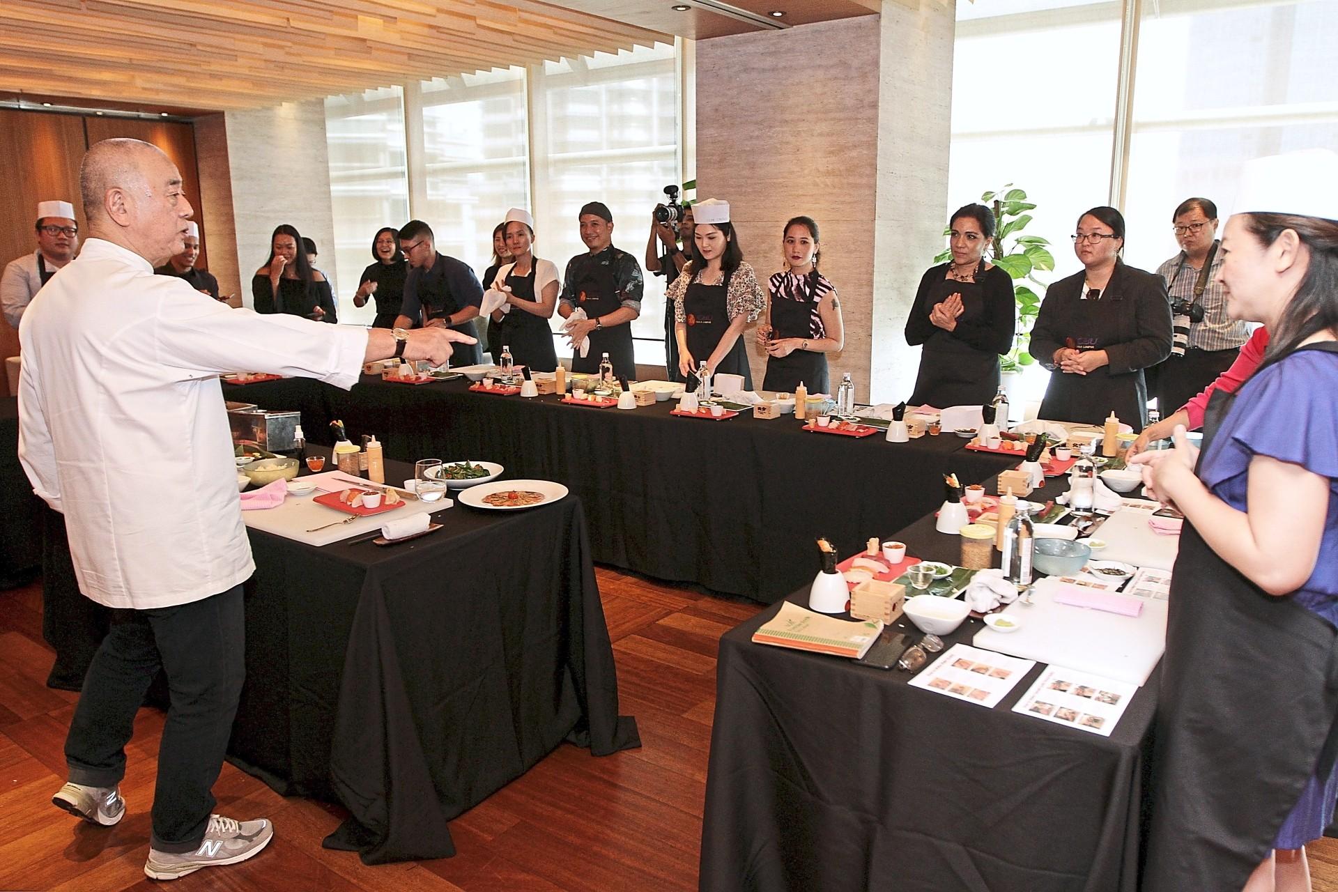 Chef Nobu launching the Sushi Master Class at Nobu Kuala Lumpur. —Photos: YAP CHEE HONG/The Star