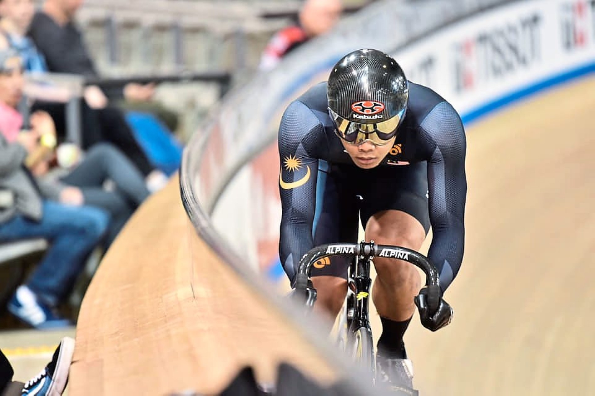 Poor outing: Malaysia's Mohd Shah Firdaus Sahrom, who won a silver in the keirin event at the Asian Track Cycling Championships in January, ended up last in the same event at the same meet in South Korea.