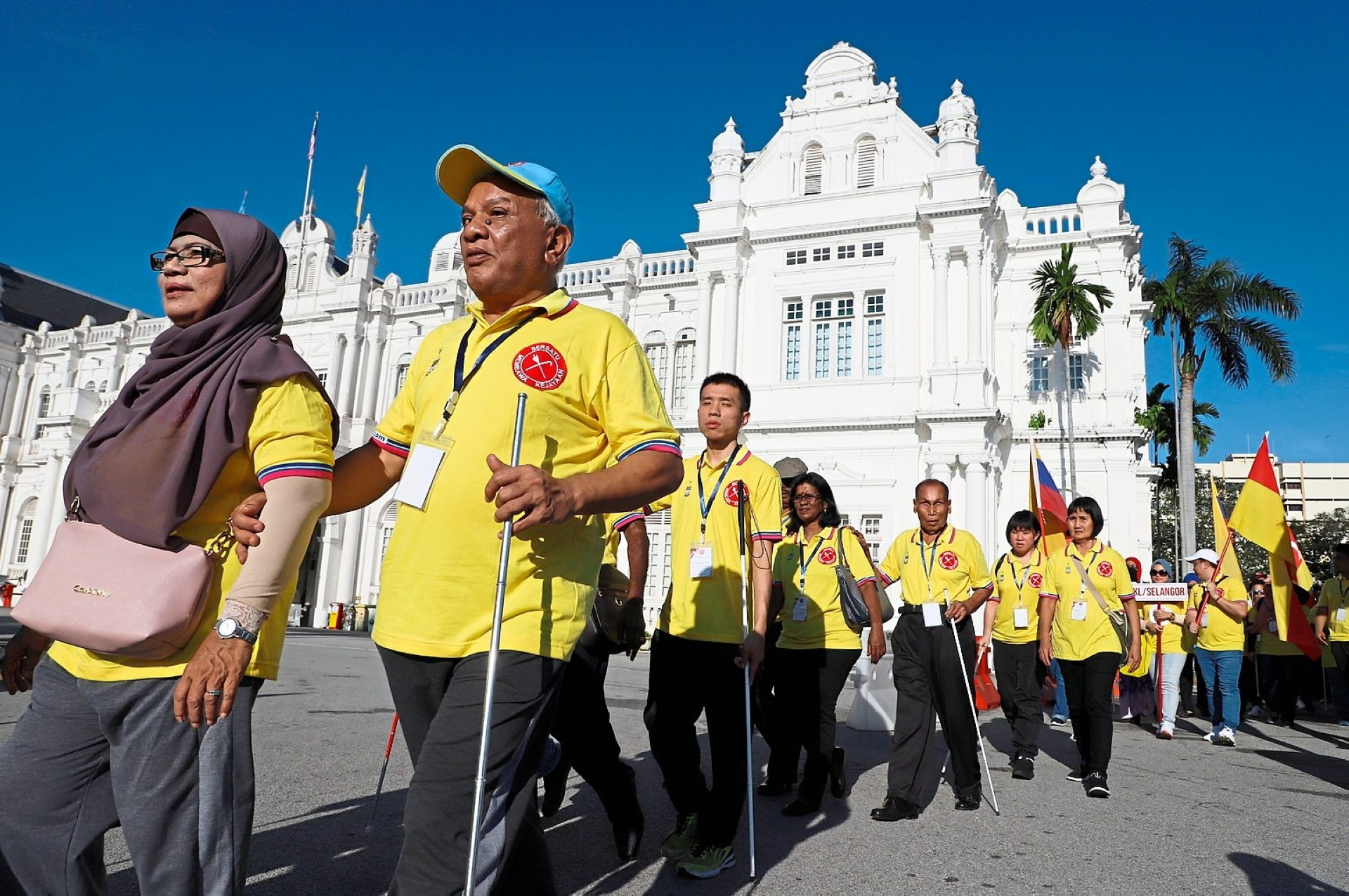 Walking in unity to create awareness for the blind