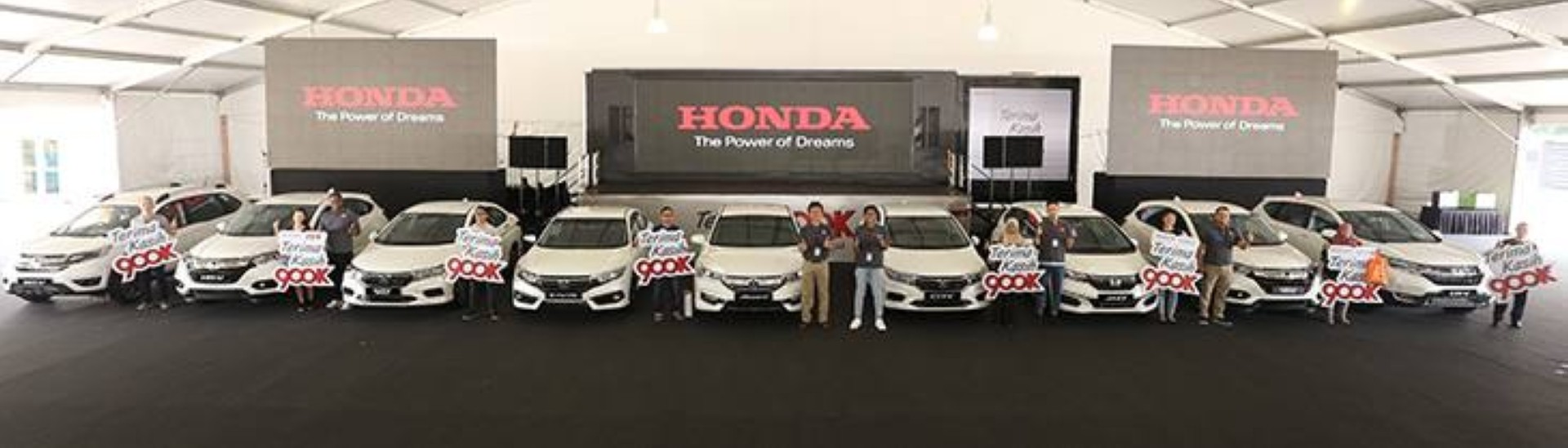 Nine Hondas for nine lucky winners