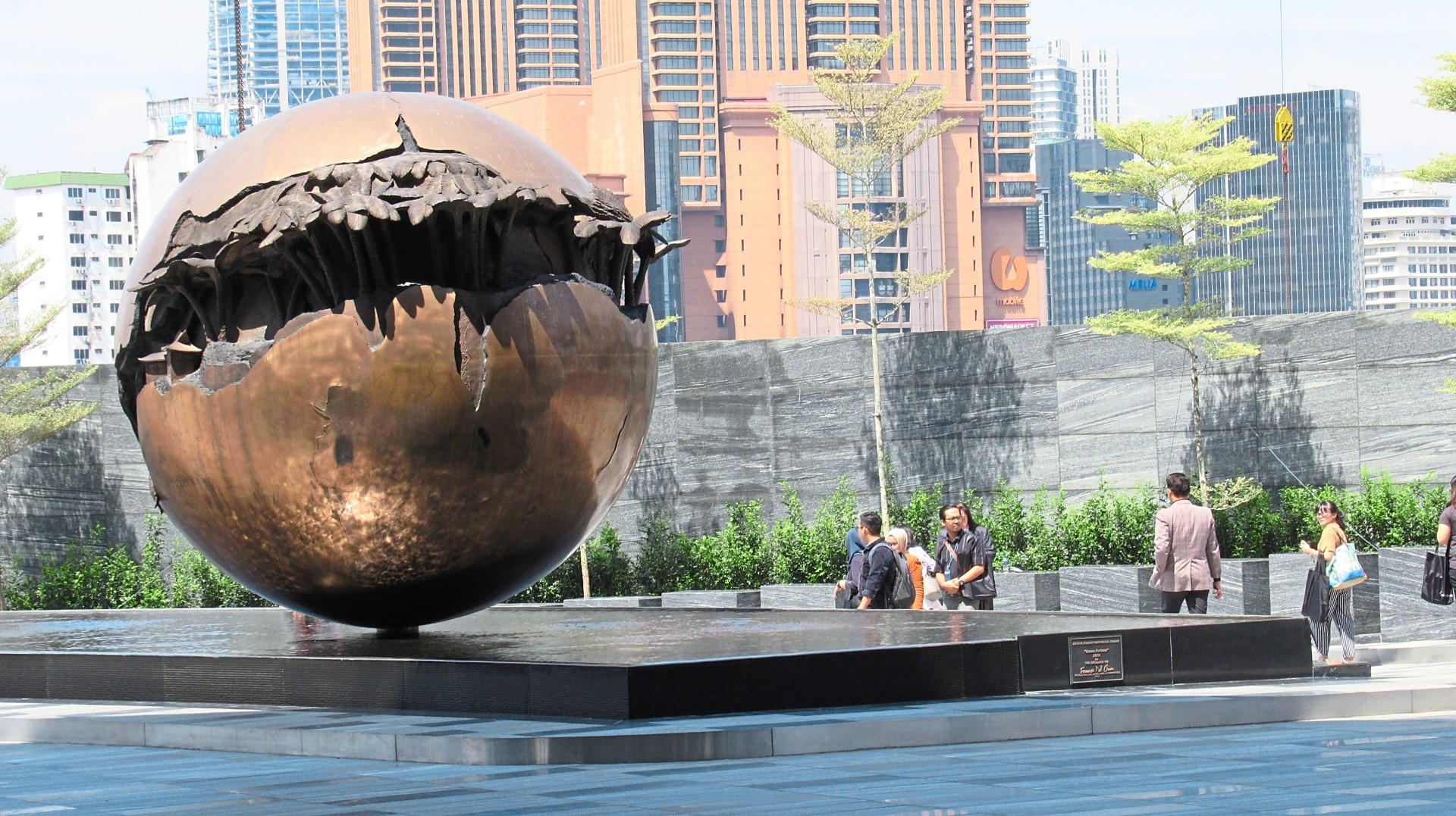 The Sphere to signify the global reach and standard  of  Exchange 106