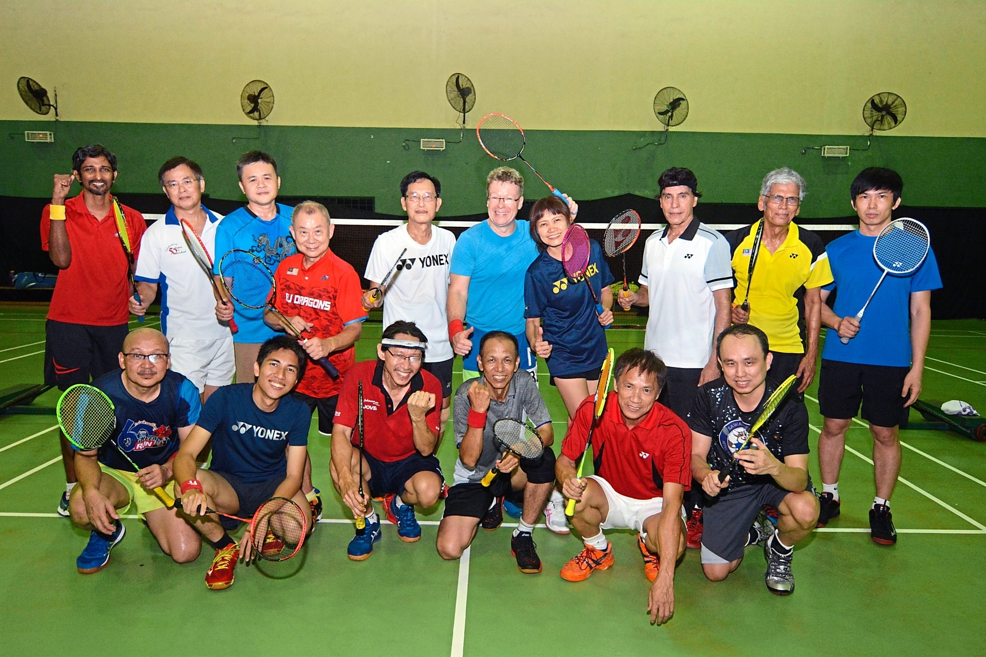 This group of season shuttlers will also compete in the 26th World Masters Badminton Championships.