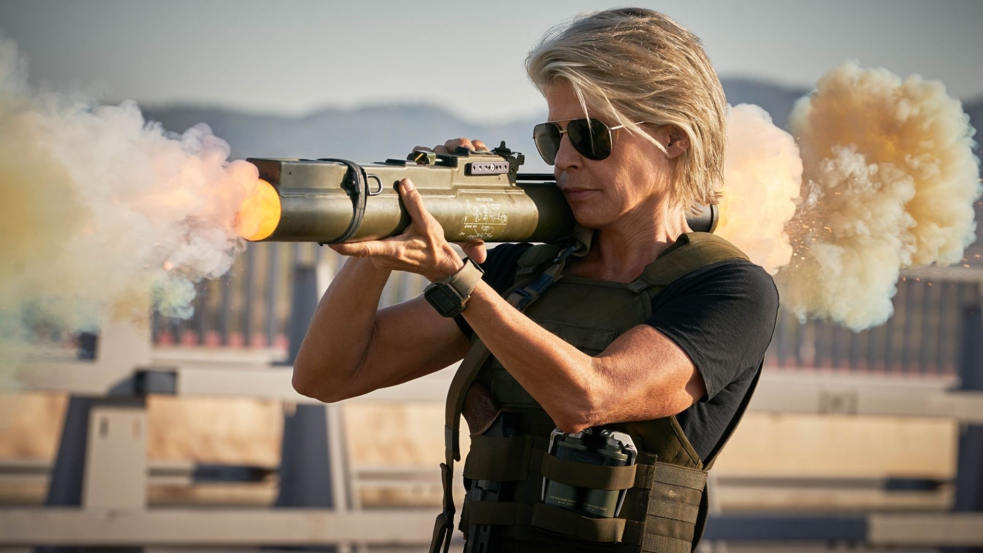 Sarah Connor's motto in life: Speak softly and carry a bazooka.