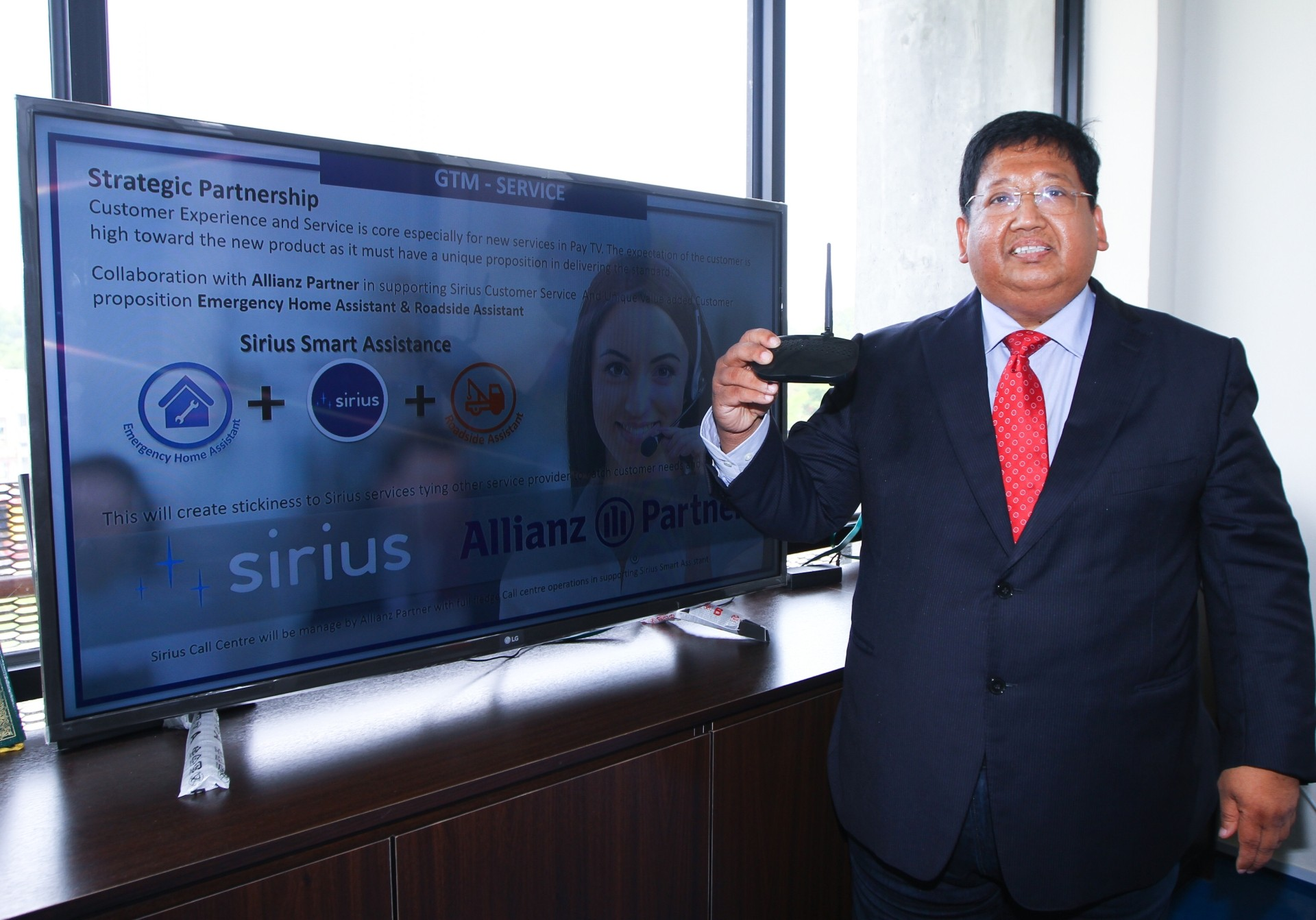 Unperturbed by the daunting task, Khairuddin Abdul Rahmanpic), the promoter behind Sirius TV, felt he has what it takes to make a splash in the satellite pay-TV business. - MOHD SAHAR MISNI/The Star