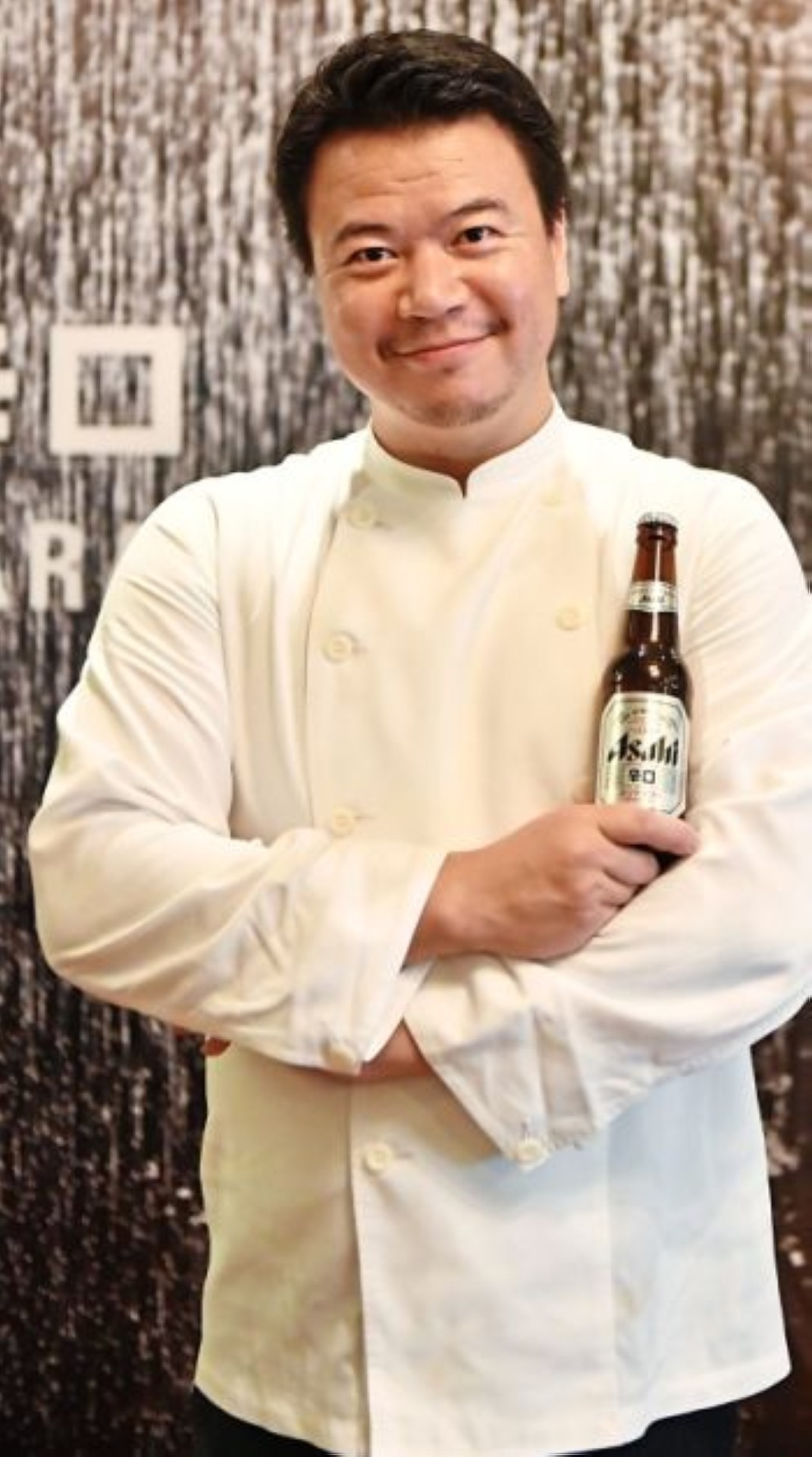 Kamimura's first beer was the Asahi Super Dry and he still enjoys it after a long day in the kitchen.