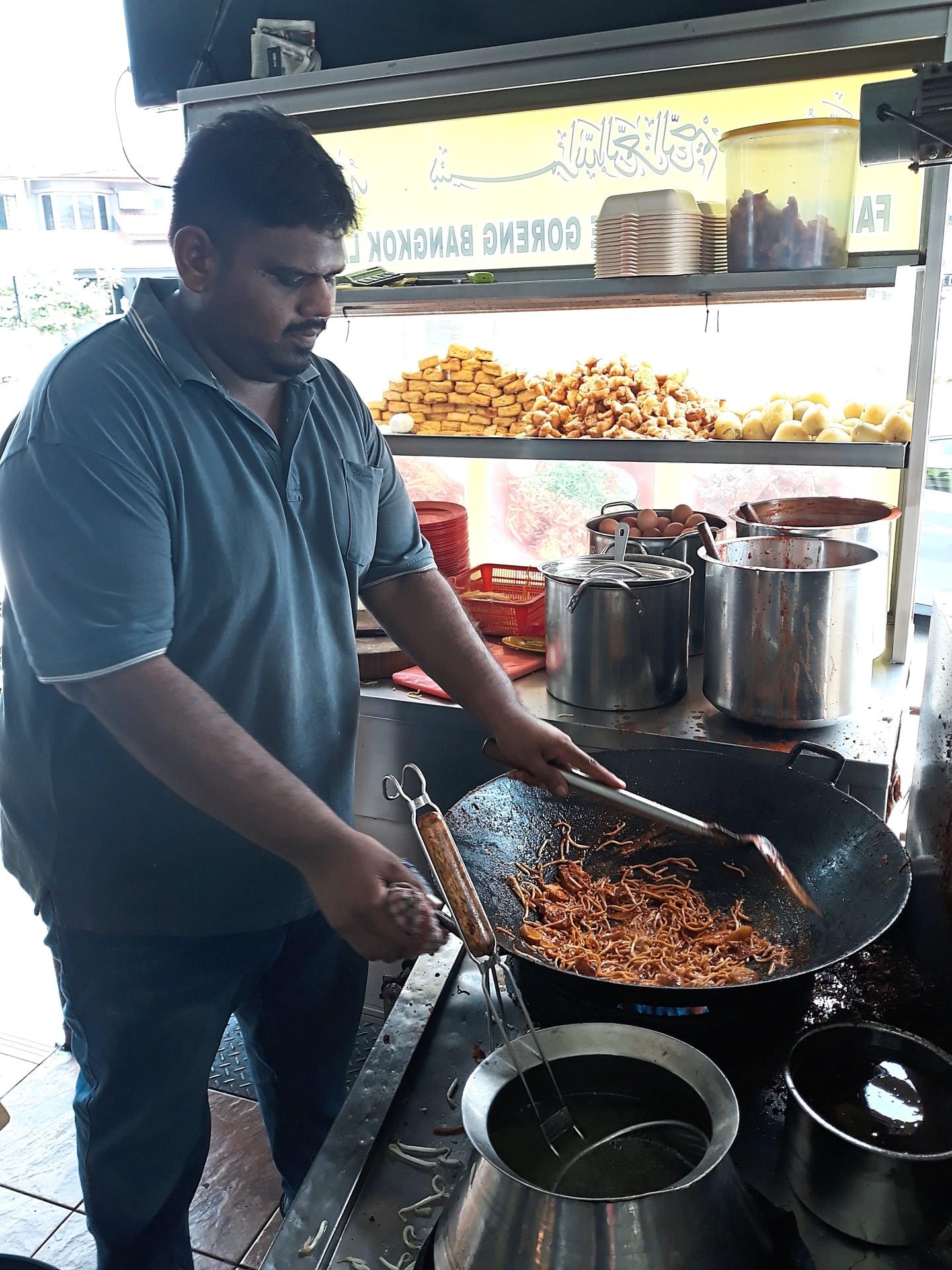 Bashir is a third generation cook who runs the Penang Bangkok Lane mee goreng stall in USJ2.