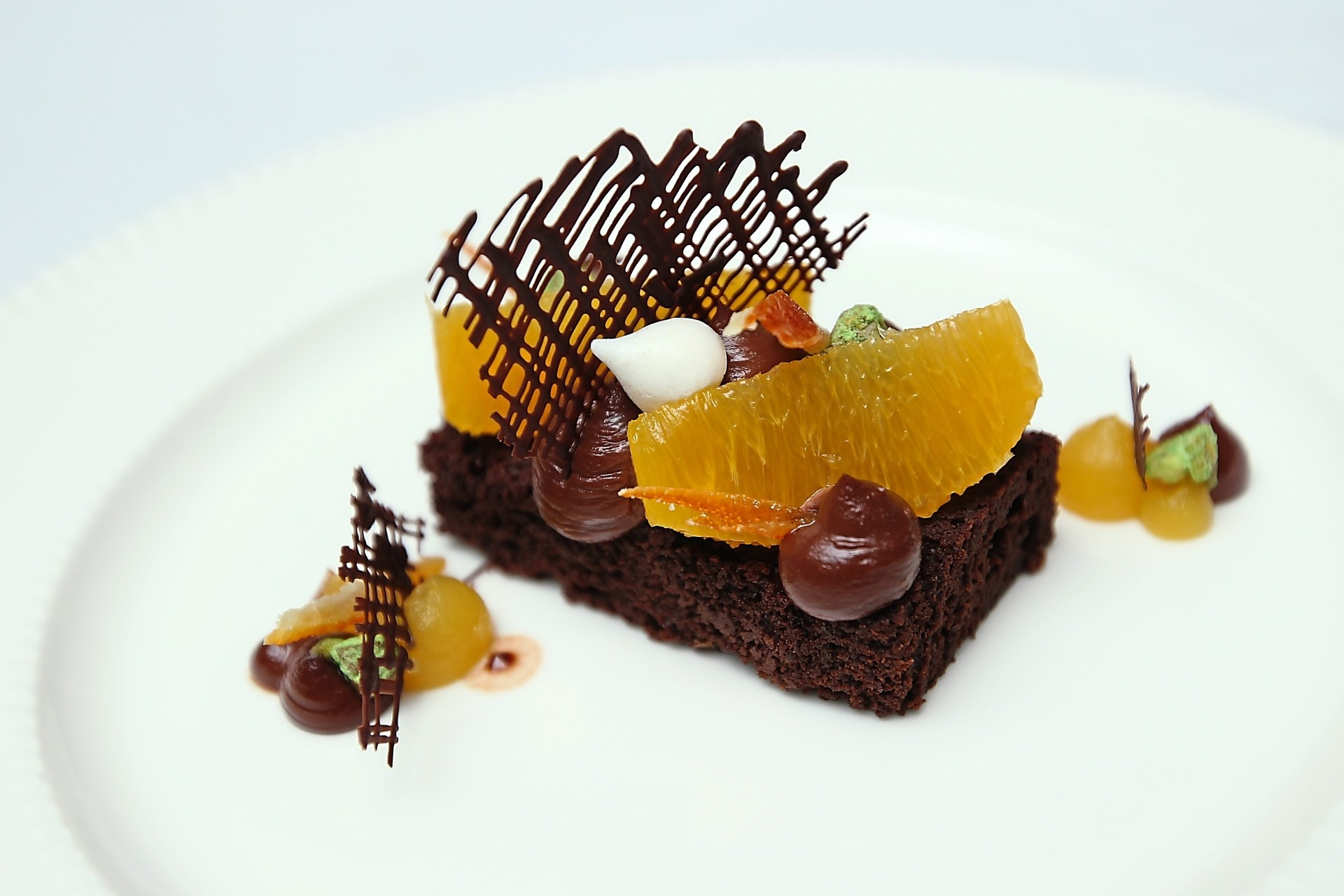The chocolate tort is the perfect dessert for chocolate lovers.