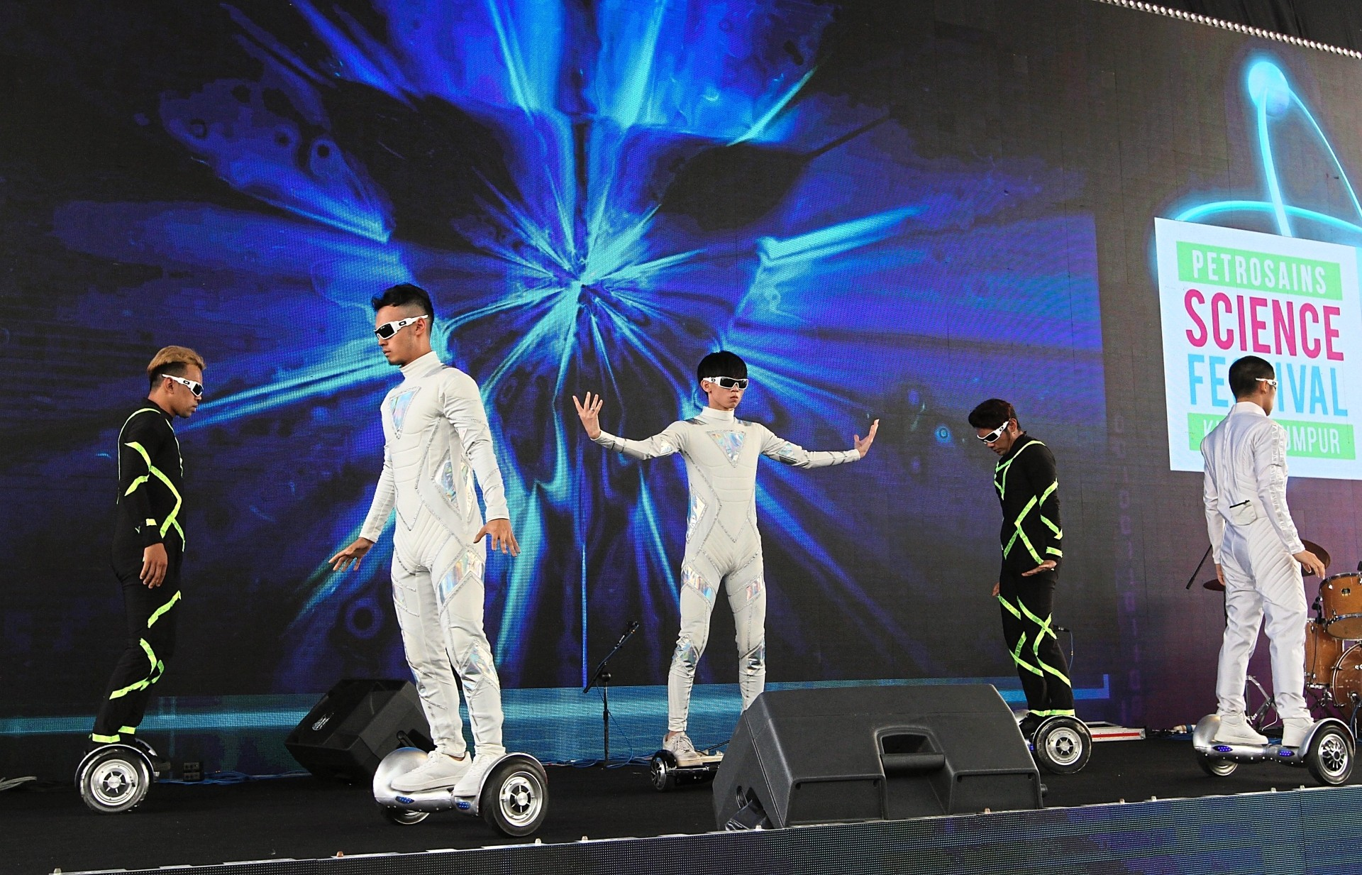 Performers during the launch of the science festival.
