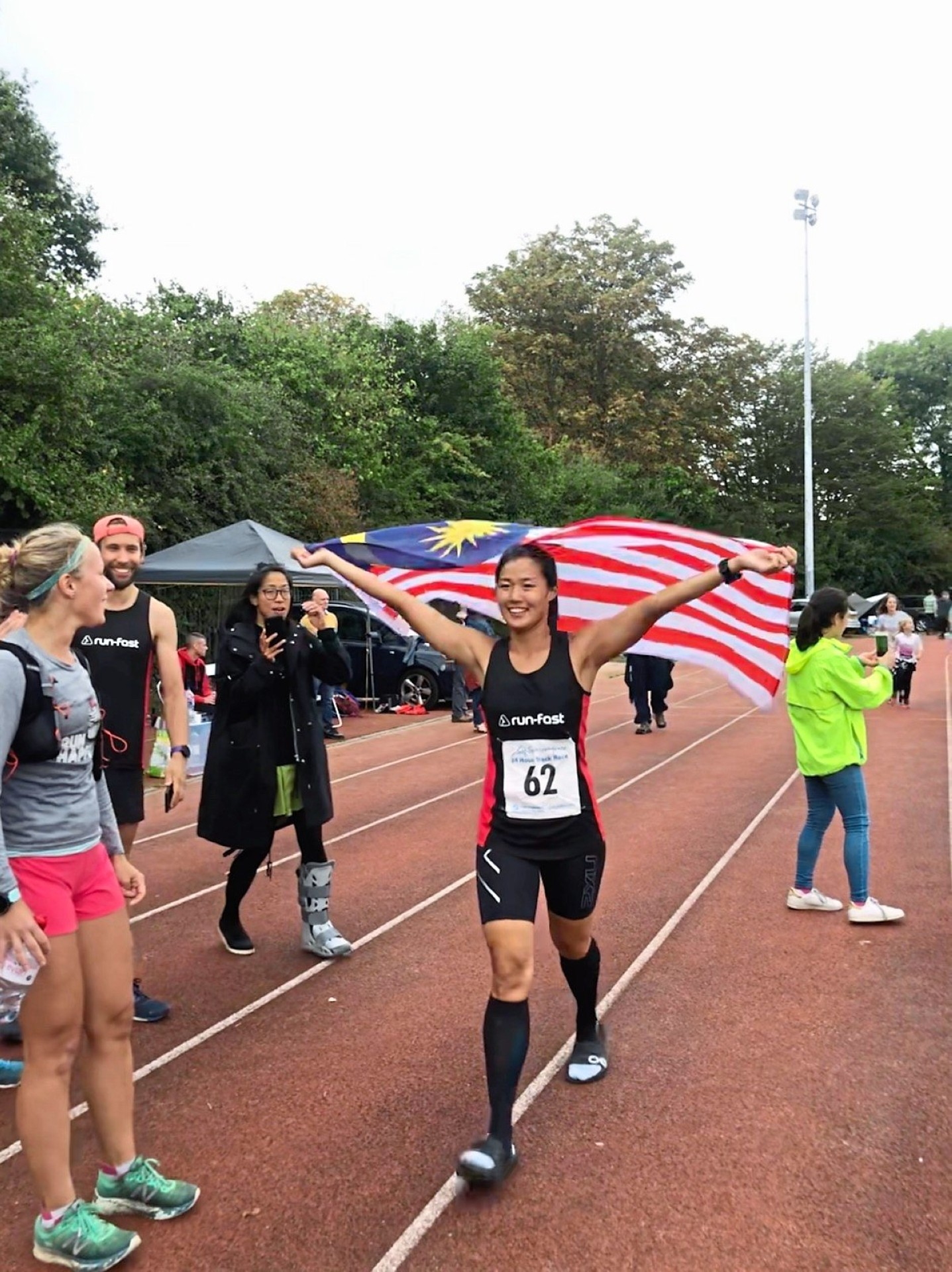 Walker came in third in the women's category and broke six national records at the Sri Chinmoy Self-Transcendence 24-hour race in September. Photos: Alison Walker