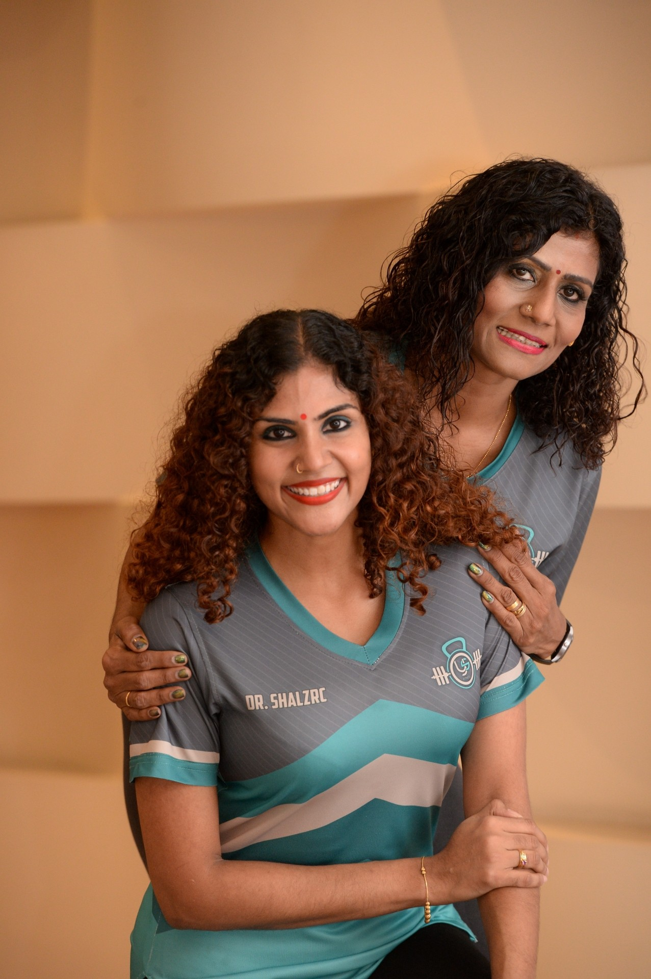 Dr Shalini (left) with her mother, Devaki Duraisingam. She has helped her mother to lose weight and achieved her ideal weight with nutrition and zumba. Photo: The Star/ Ong Soon Hin
