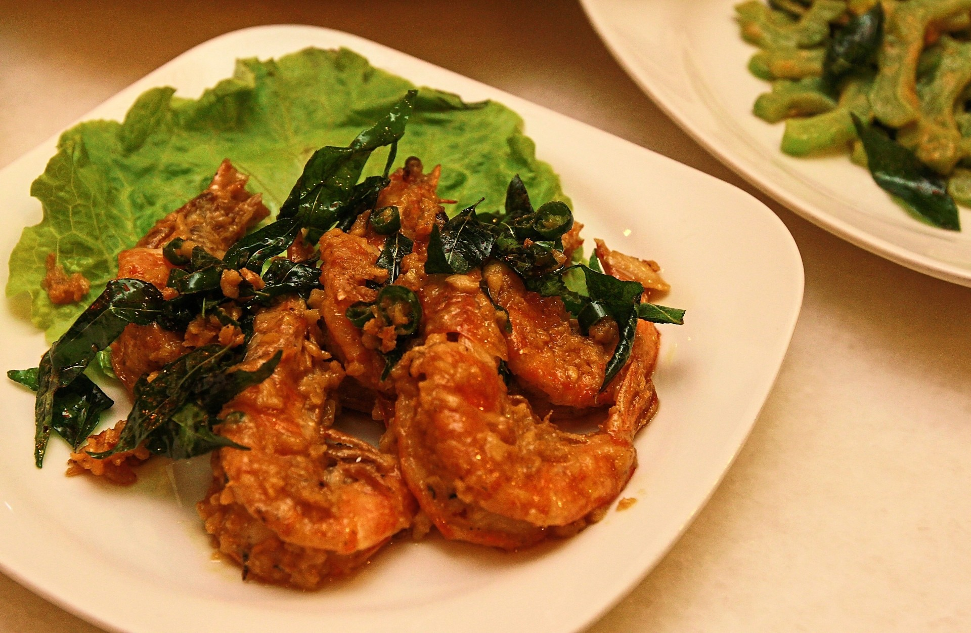 The House special Prawns includes Chong's own twist to the recipe, the addition of evaporated milk.