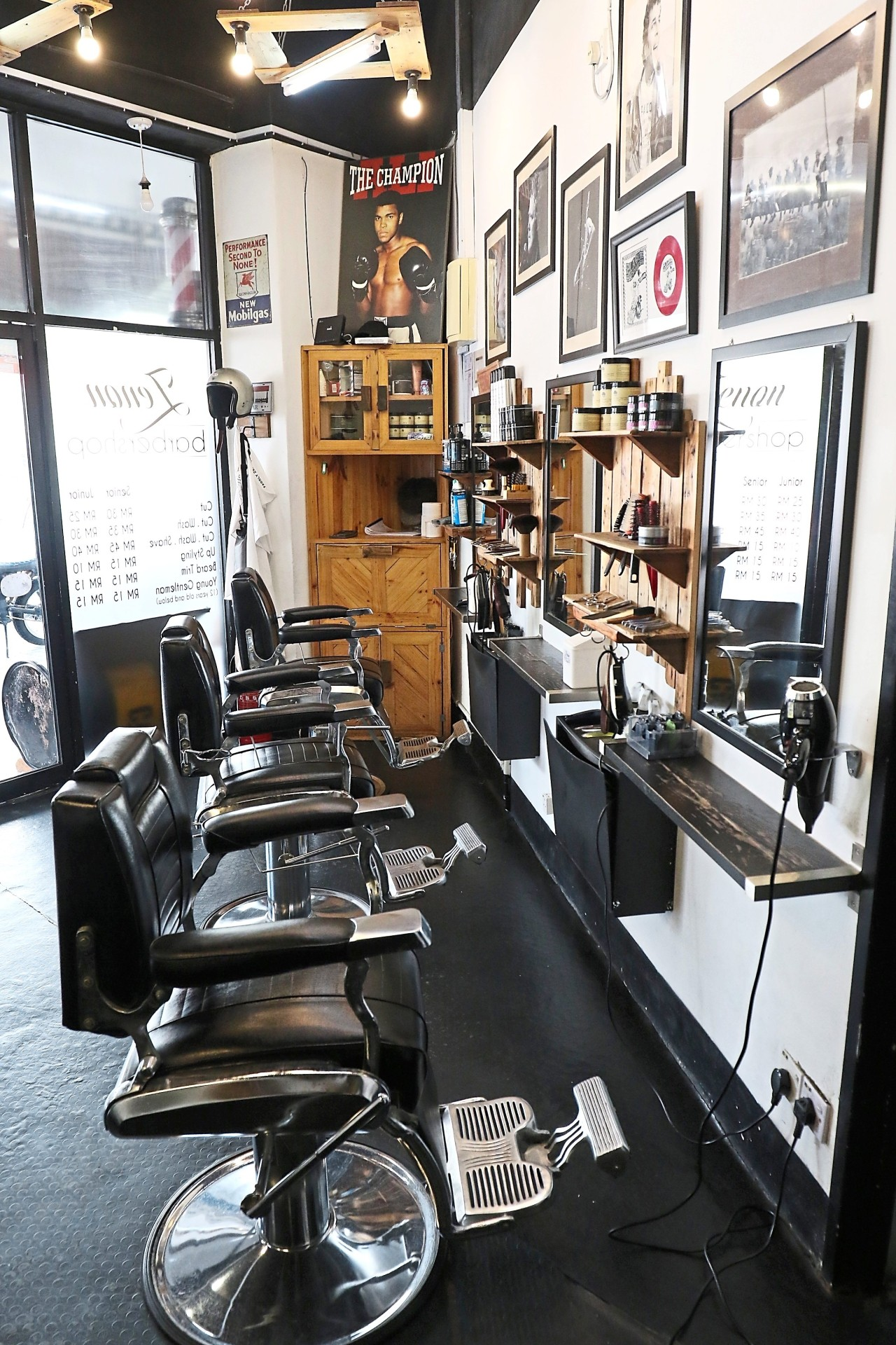 The interior of Zenon Barbershop is a reflection of the owners' love for music and culture. Photo: FAIHAN GHANI/The Star