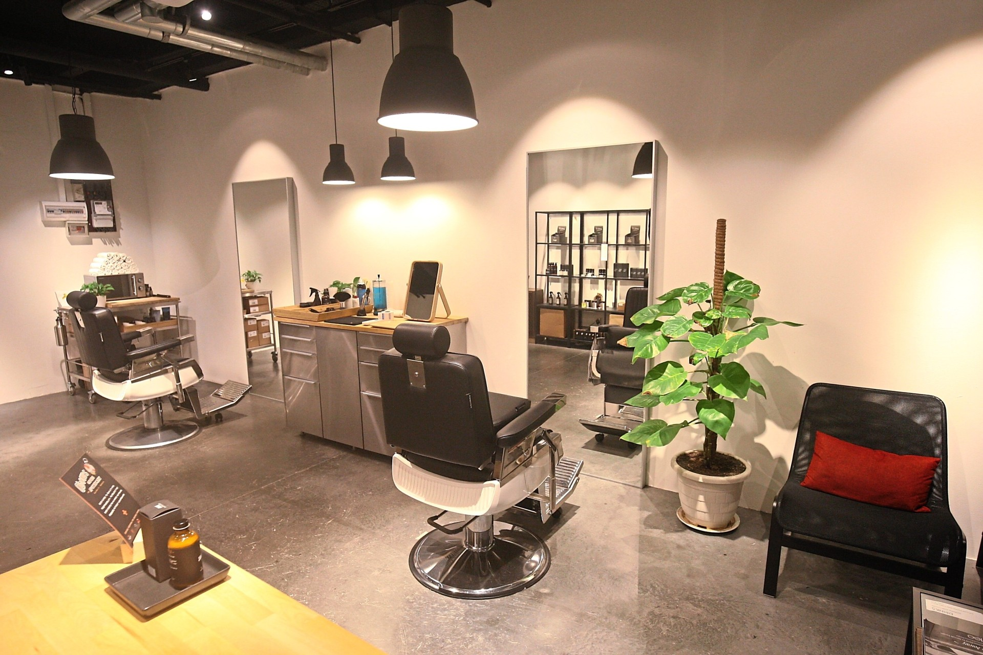Sweeney Ted Barbershop offers a minimalist interior that is calm and devoid of clutter. Photo: FAIHAN GHANI/The Star