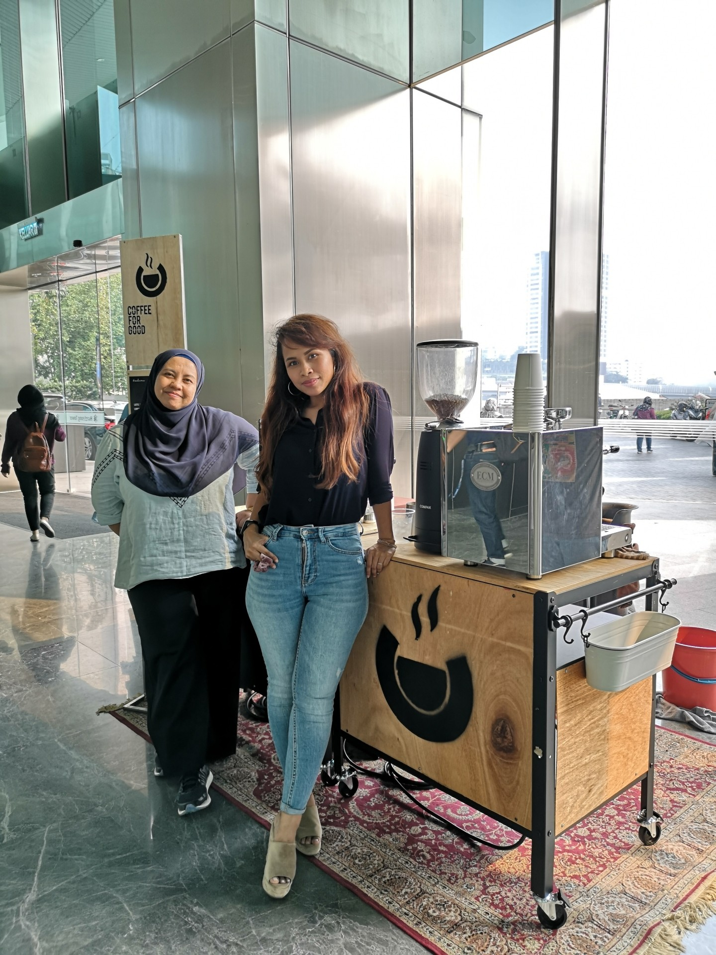 Faridah and Dahlia are happy to be pursuing their passion while helping under privileged youth..