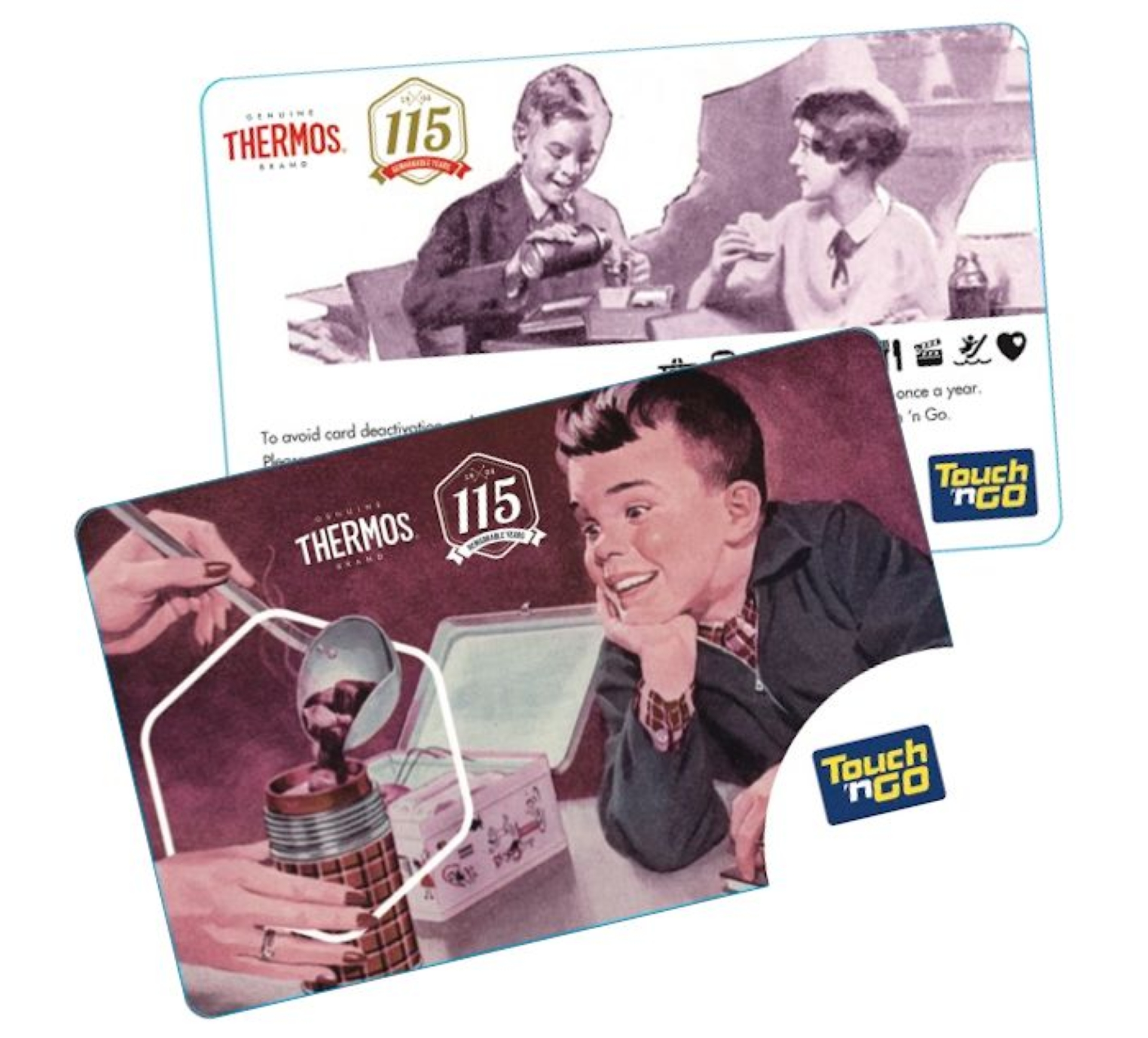Special Touch n' Go card from Thermos as the brand celebrates its 115th anniversary.