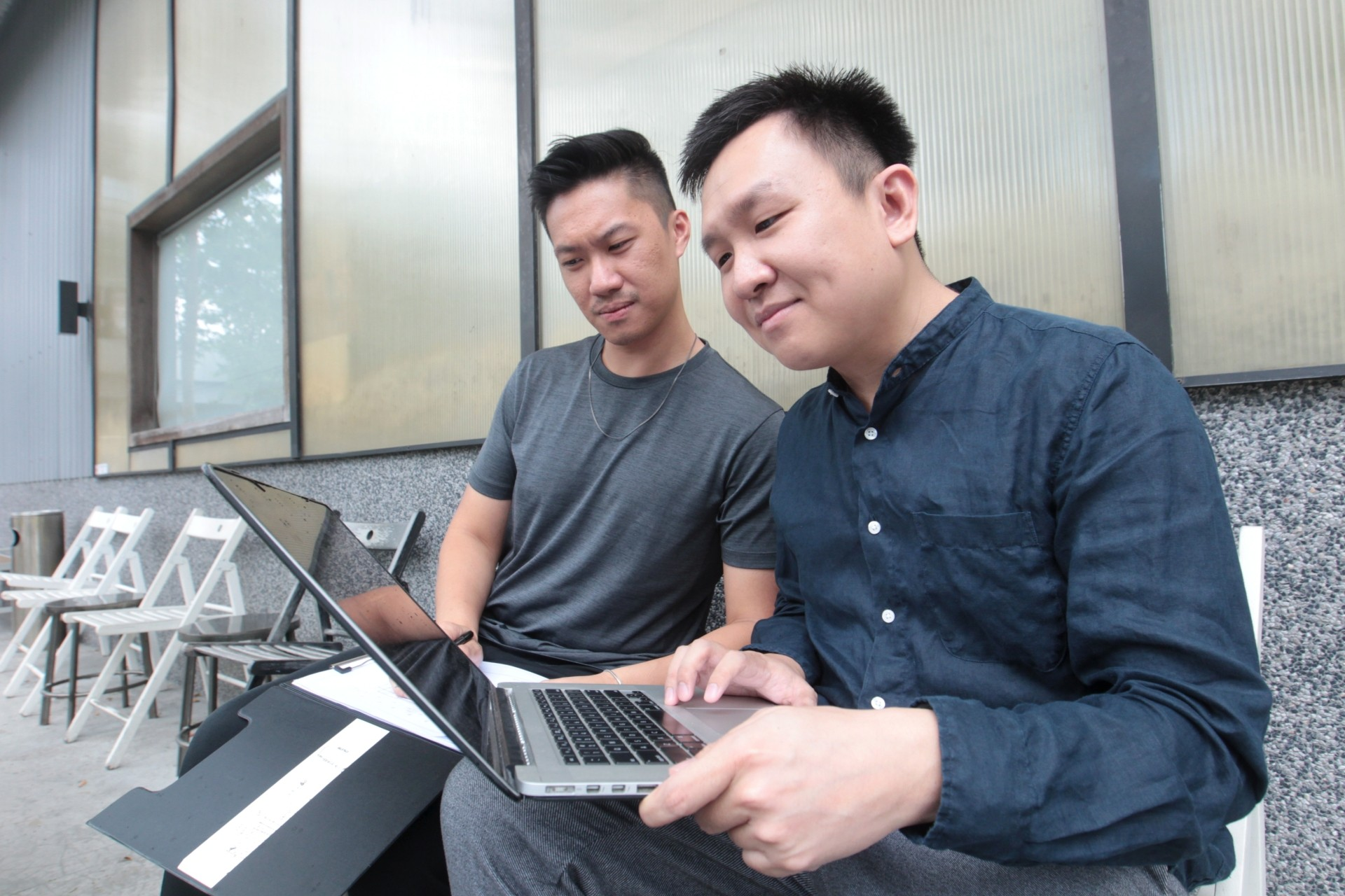 Jun Ong (left) and Helios Loo believe iNyala is a great platform for students to push their limits and try out things they won't normally have a chance to. ART CHEN/The Star