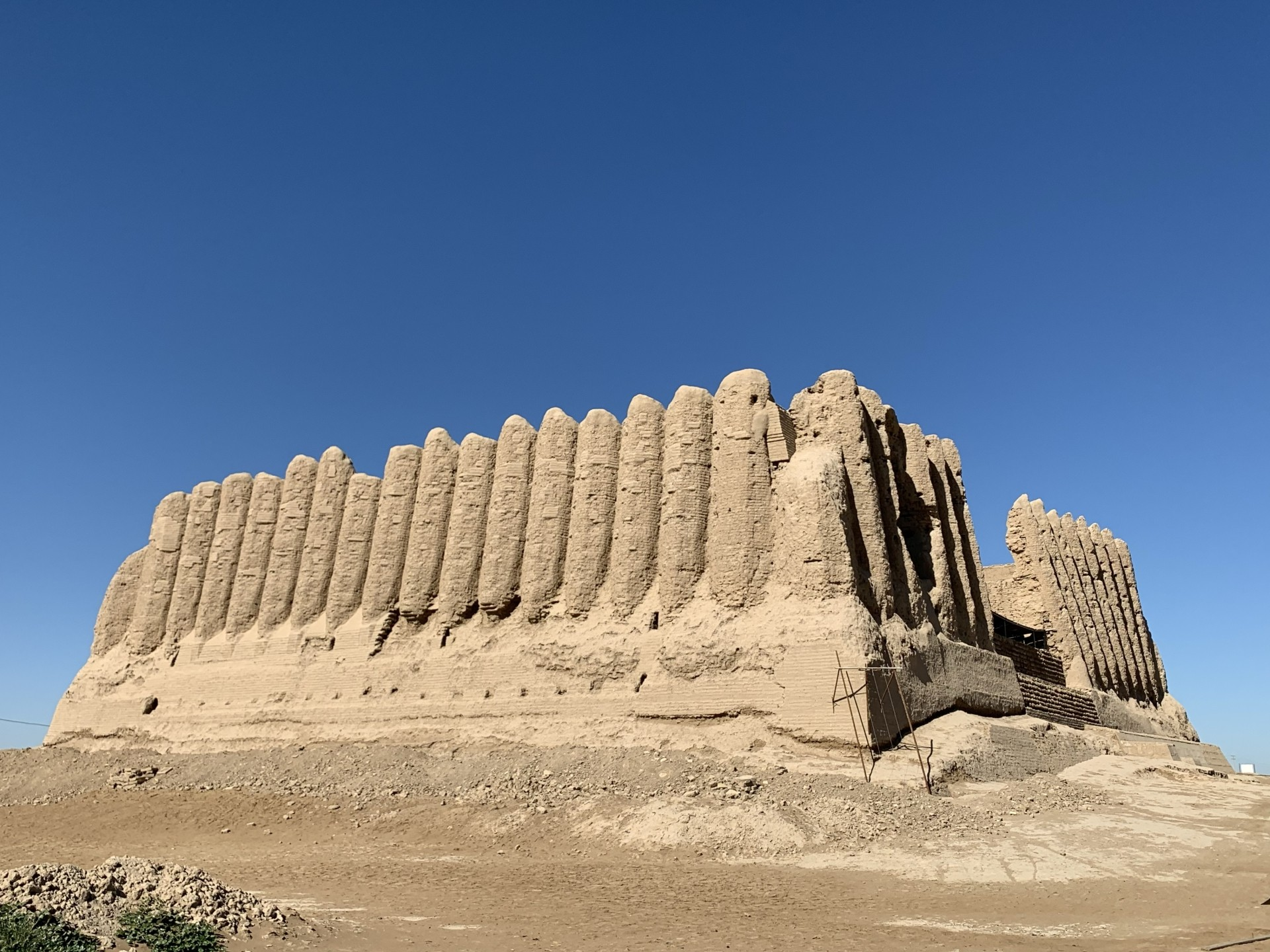The Kyz Kala Fortress is situated outside Merv's city walls. Turkmenistan has three Unesco World  Heritage Sites.