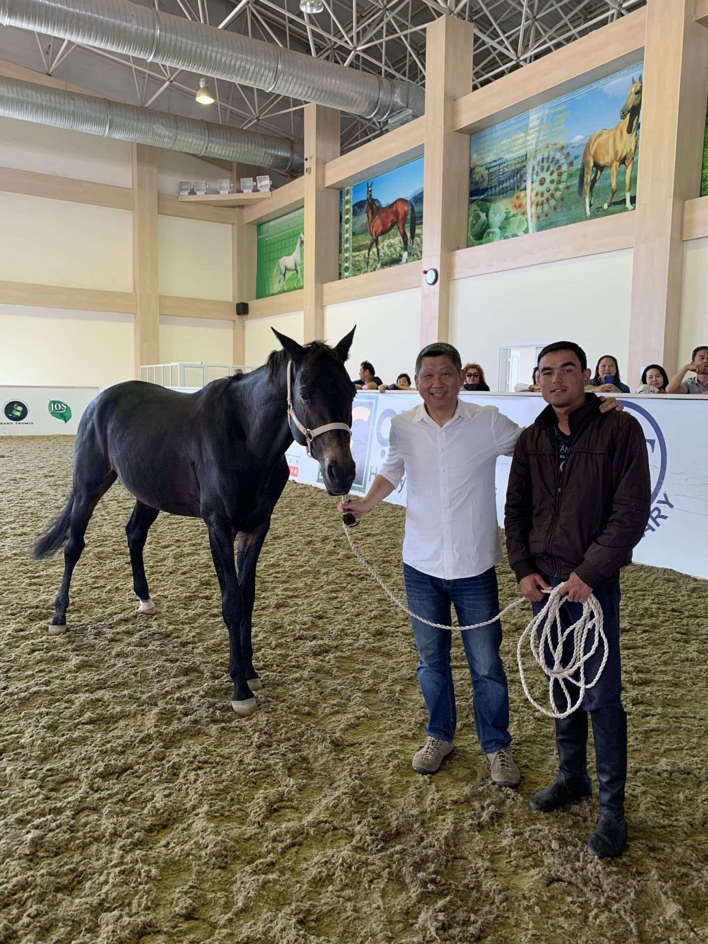 There are only about 3,000 Ferghana horses left in the world.