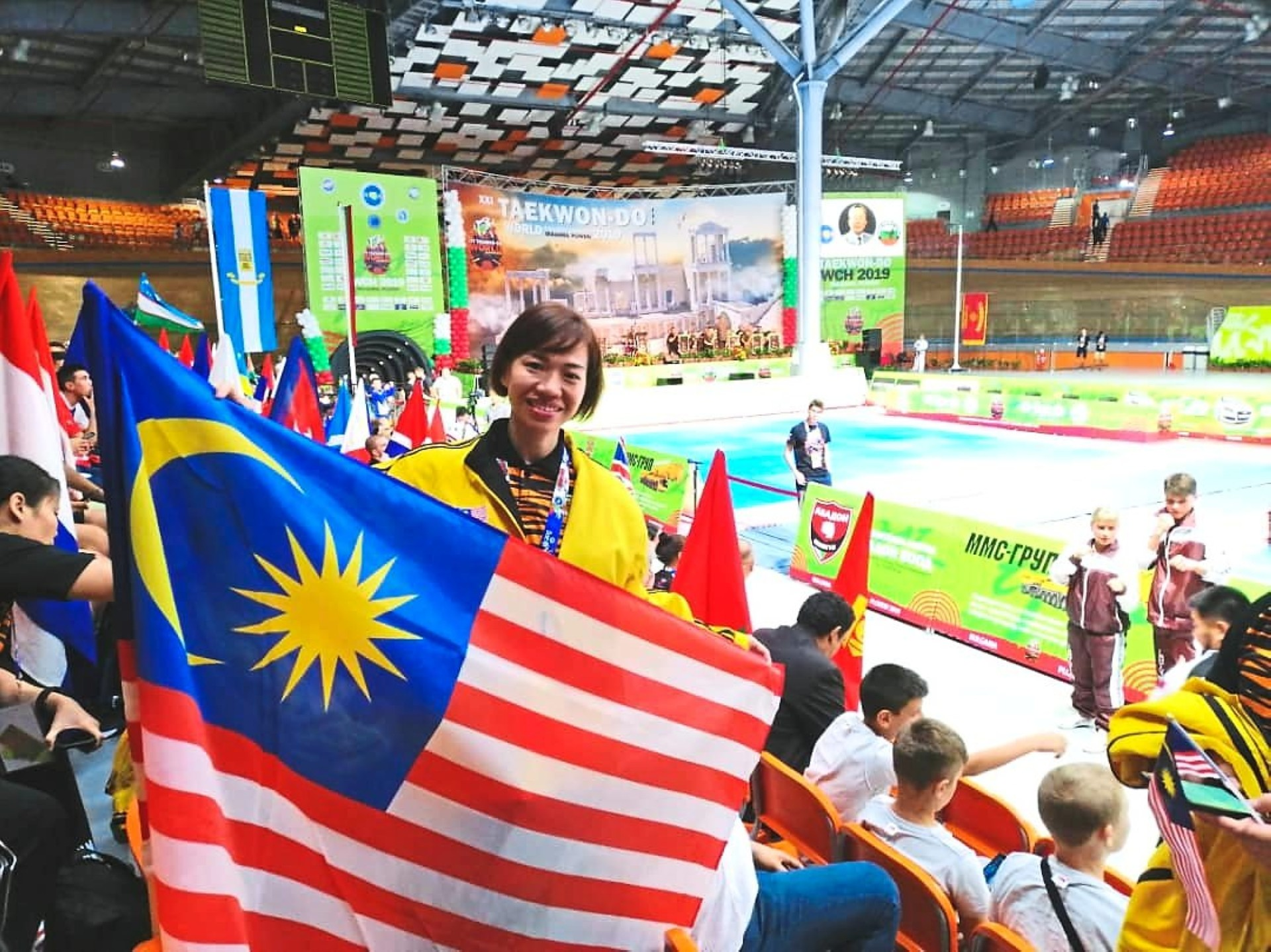 Lim at the 21st ITF Taekwondo World Championship this year in Plovdiv, Bulgaria where she won the gold medal and put Malaysia on the world map.  Photos: Michelle Lim