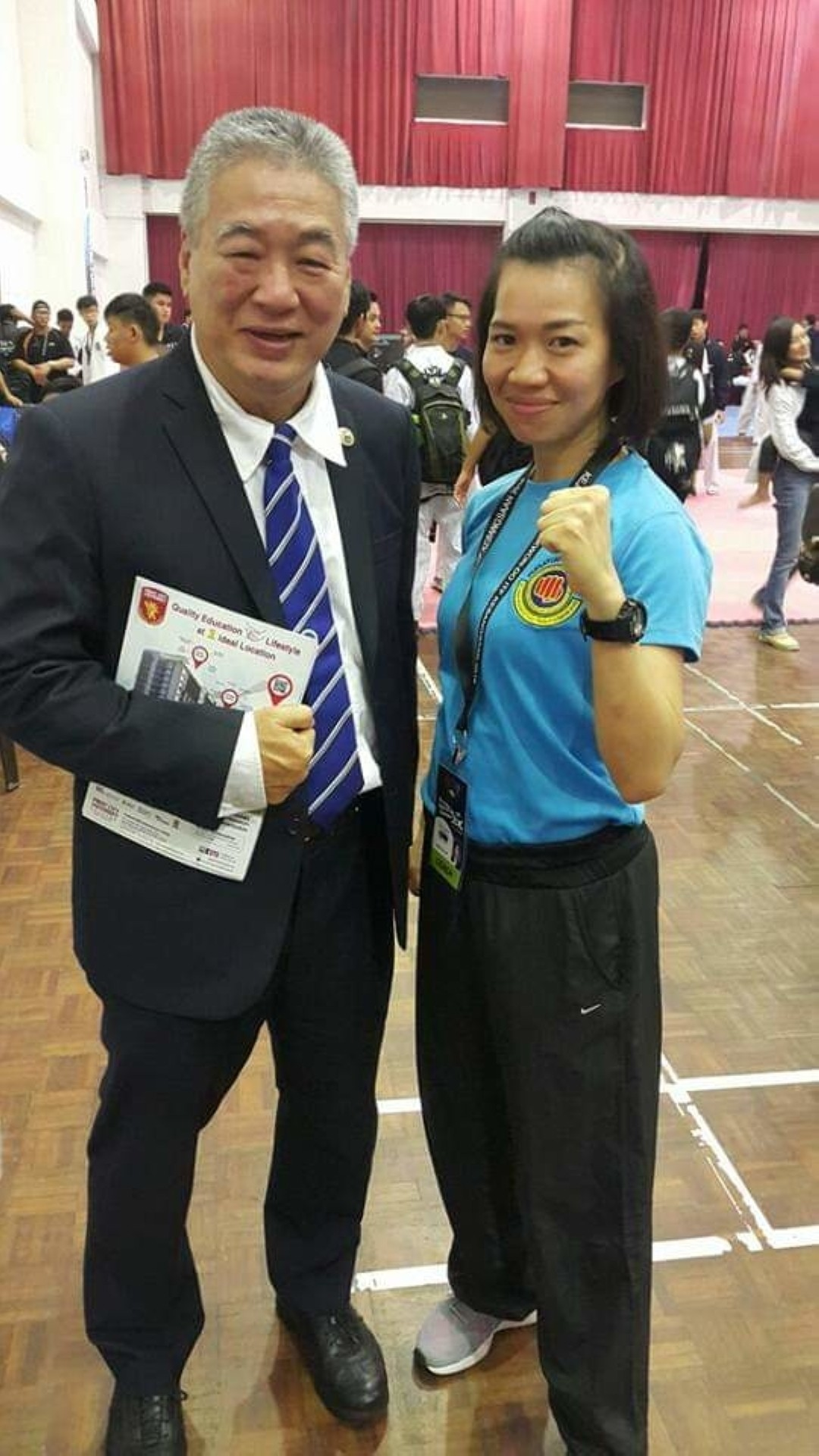 Aside from her father, Lim also credited her recent success to her instructor, Master Tan Eng Kiat.