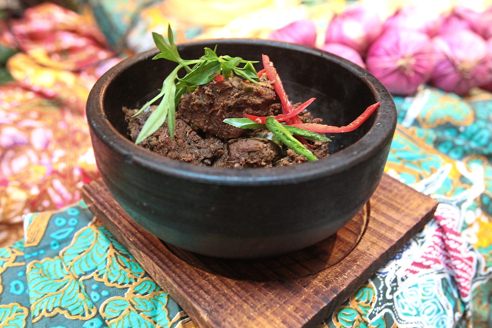 The rendang tok is delightfully nutty and rich.