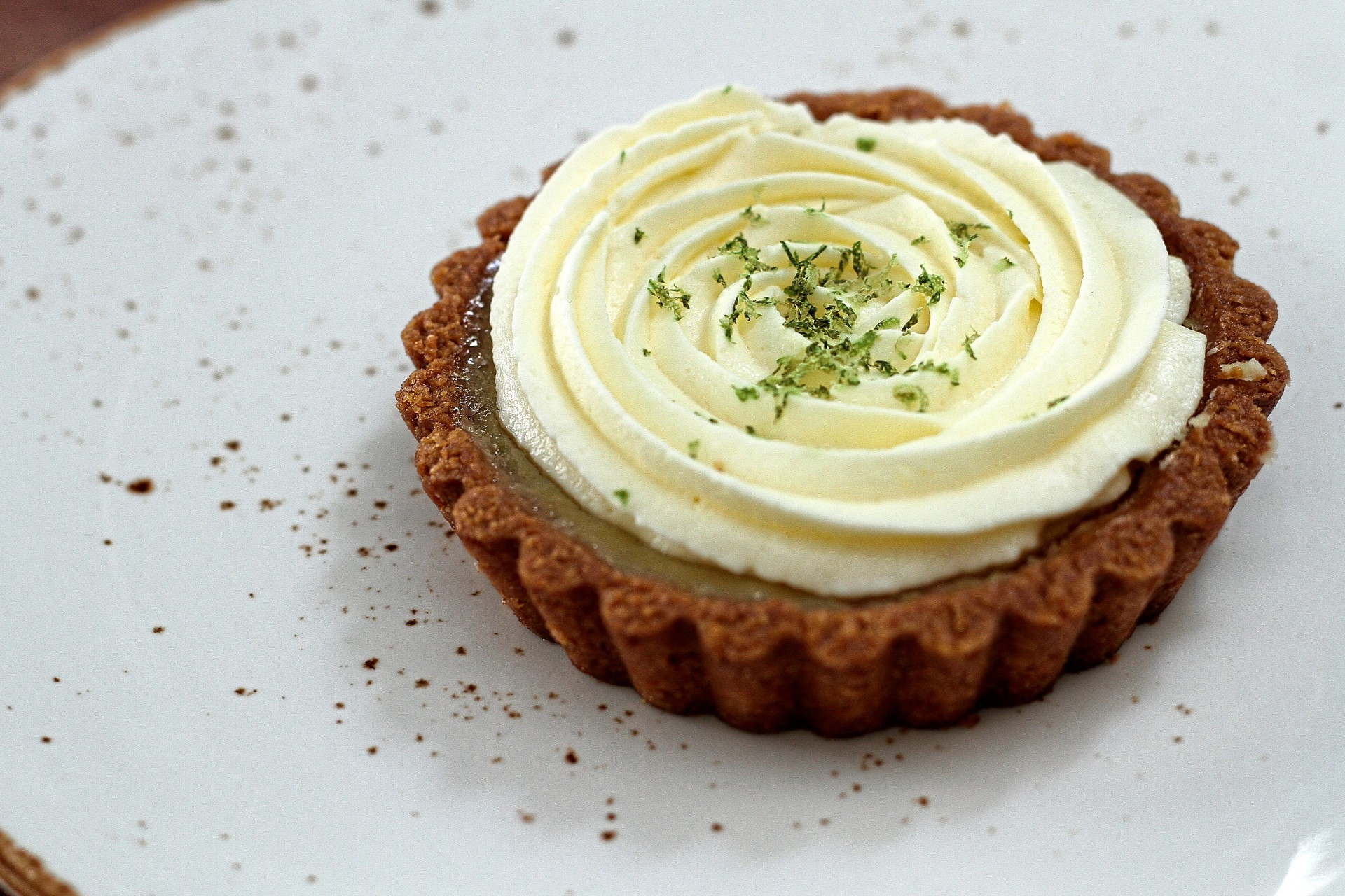 The key lime tart is a delightful, slightly astringent concoction that makes use of a  gluten-free pie crust.