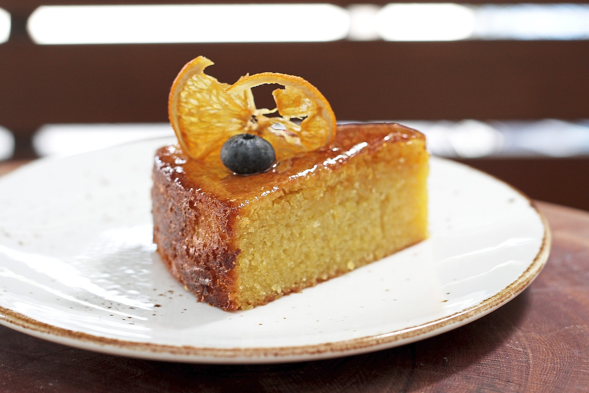 A take on a sugee cake, the orange polenta cake makes use of gluten-free polenta in place of semolina flour.