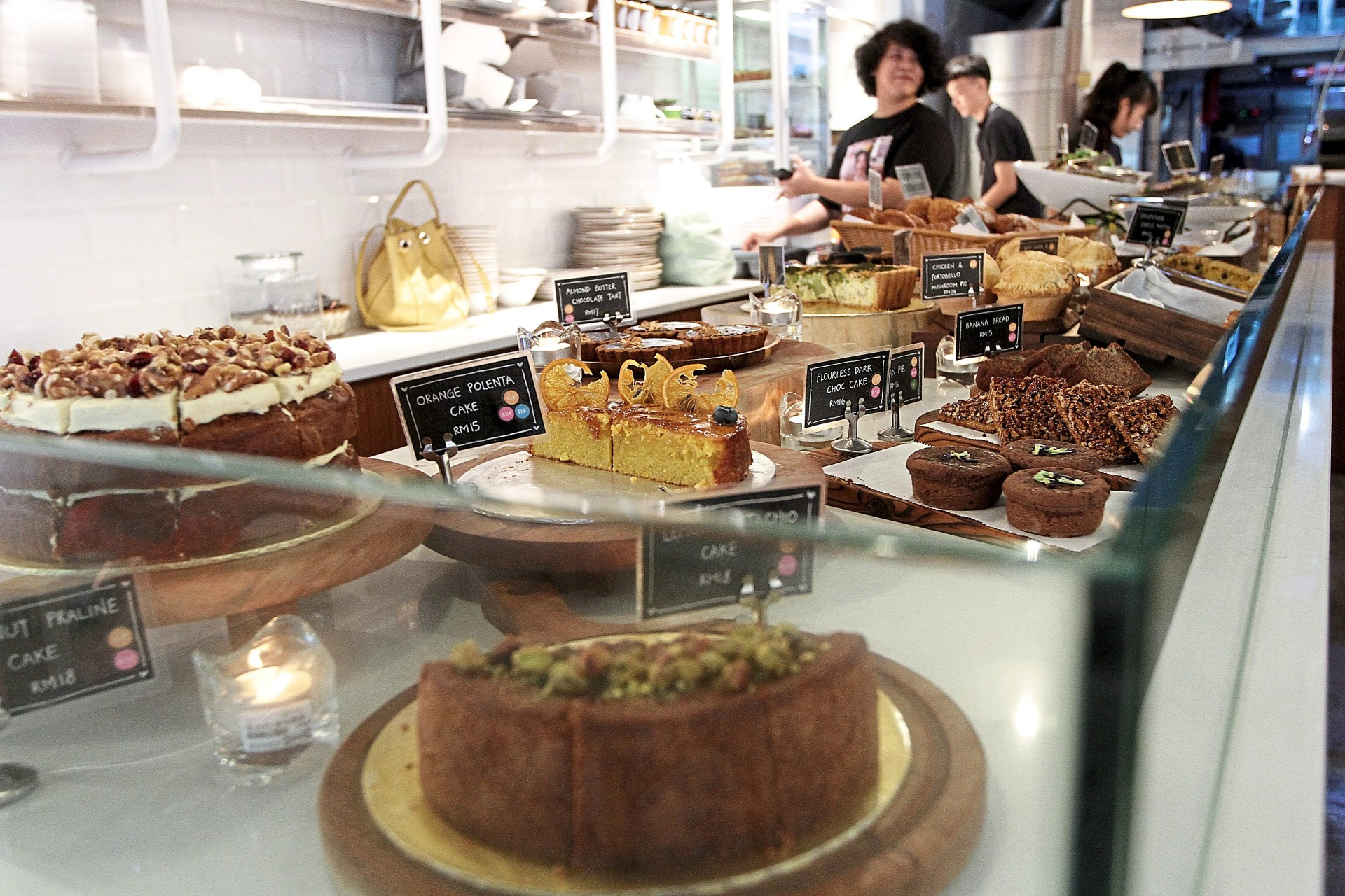 All the desserts at Nourish are gluten-free and refined sugar-free.