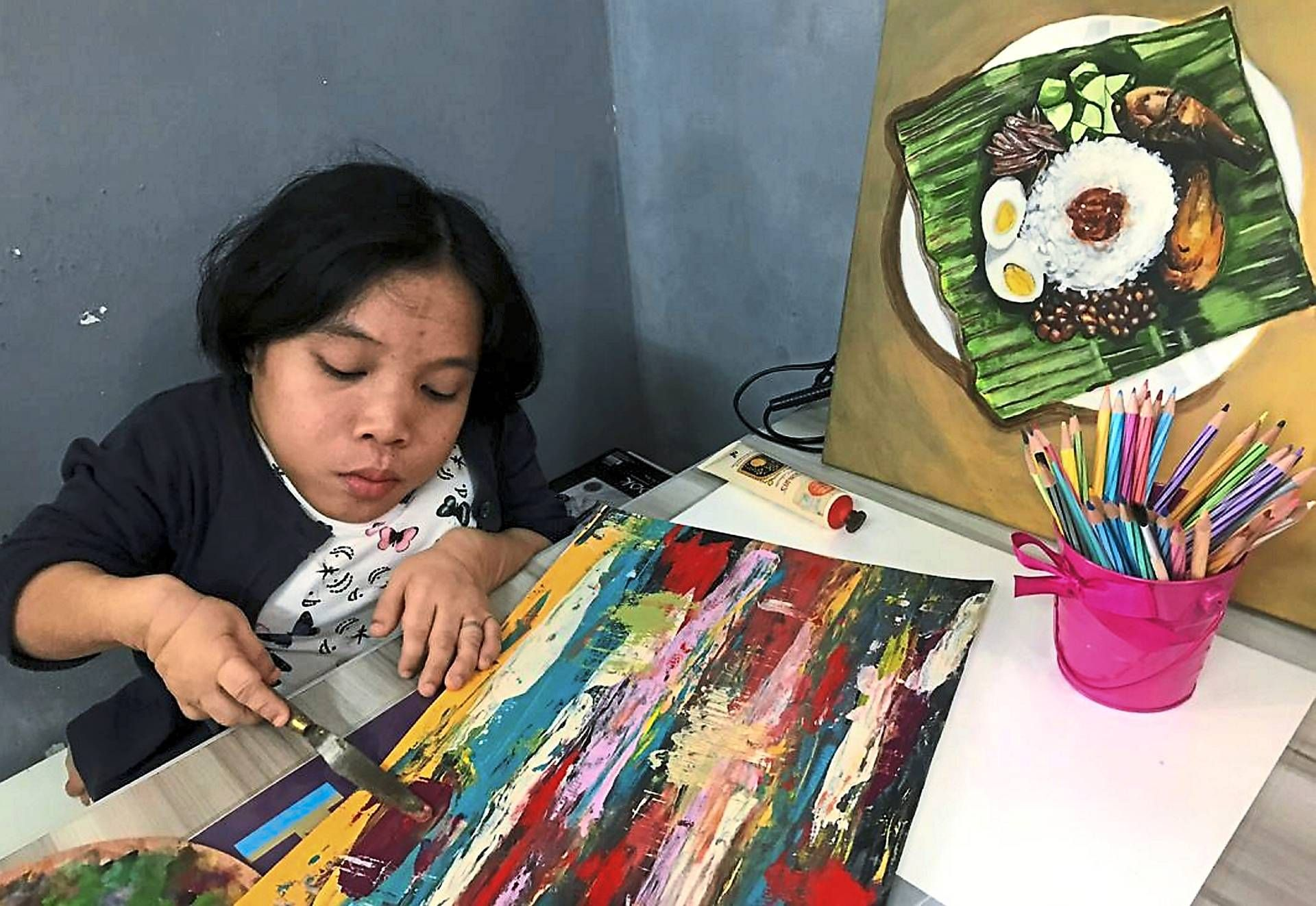 Gifted: Nur Fariza mainly shares her artwork on Instagram and receives commission from her followers. — Bernama