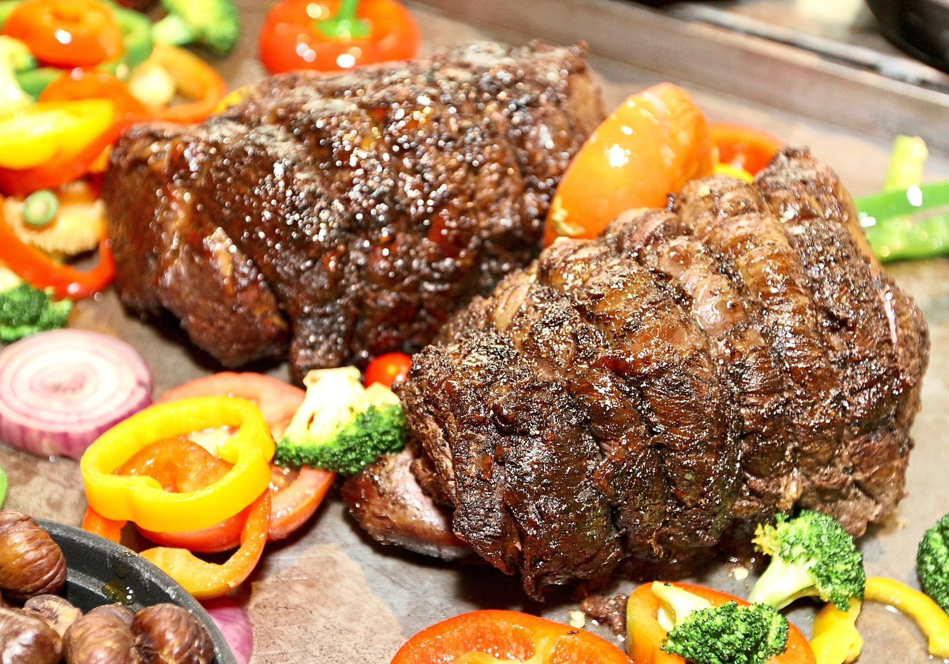 Meat lovers can look forward to oven-baked ribeye at Sunway Putra Hotel Kuala Lumpur's Christmas Eve and New Year's Eve buffet dinner.