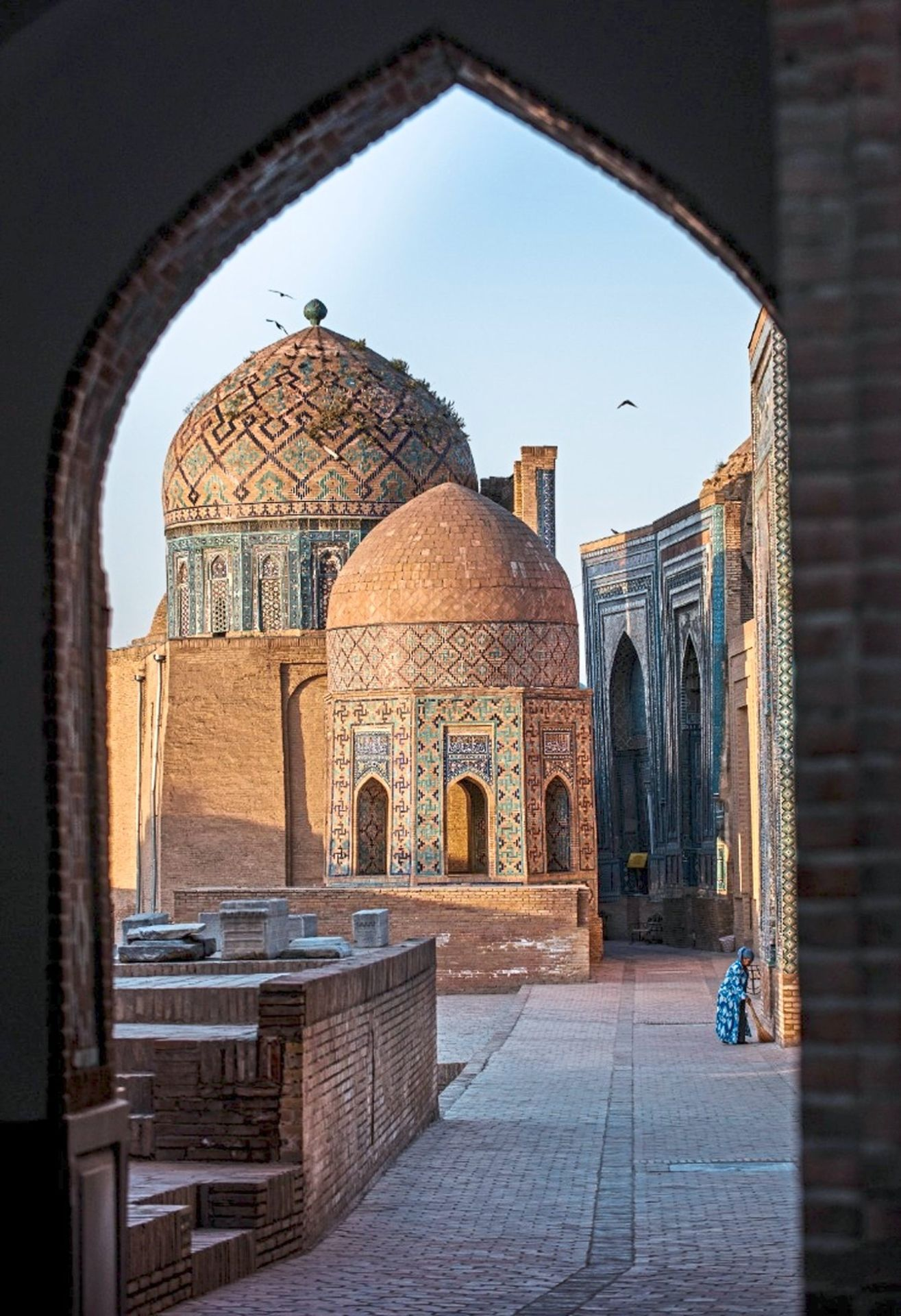 The Gur-e-Amir mausoleum in Samarkand is one of the popular places to visit.