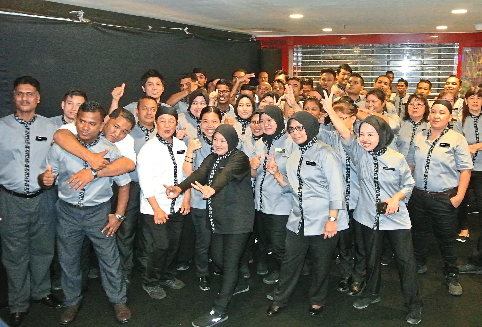 Mercato employees all raring to serve customers.