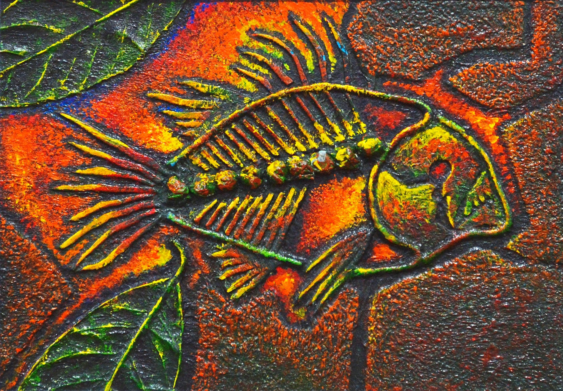 Baba Wong's Fossil: Piranha Series 1 (mixed media, 2019). Photo: TitikMerah Collective