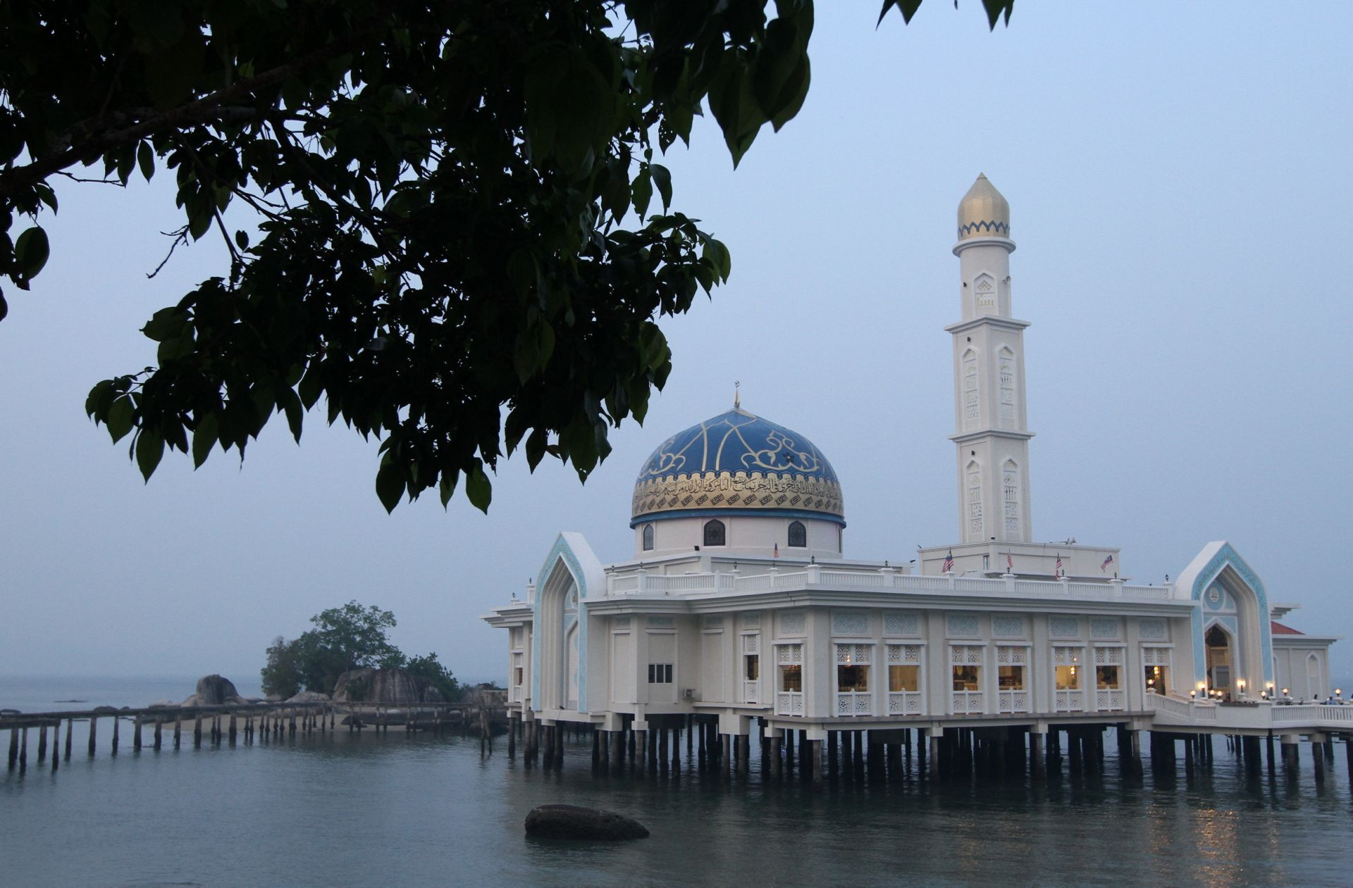 Majestic beauty: The Masjid Al-Badr Seribu Selawat, Perak's very own floating mosque, is a special highlight of Pangkor.