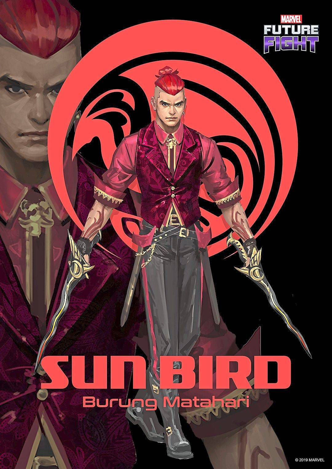Sun Bird will be available as a playable character on mobile game Future Fight at a later date. — Marvel