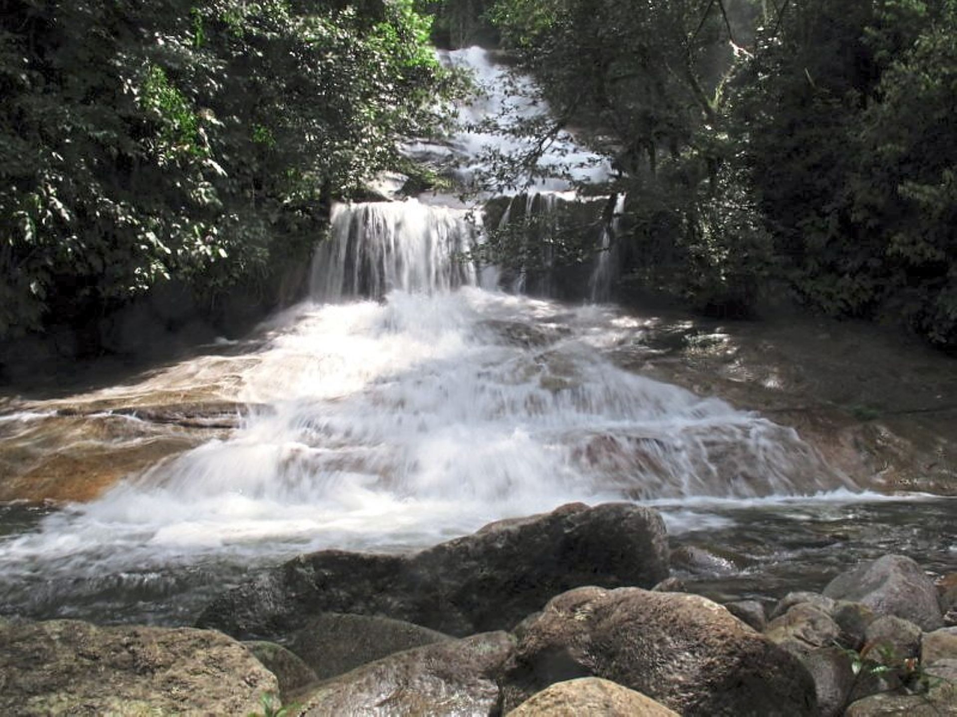 Lata Medang is adjacent to an Orang Asli village.