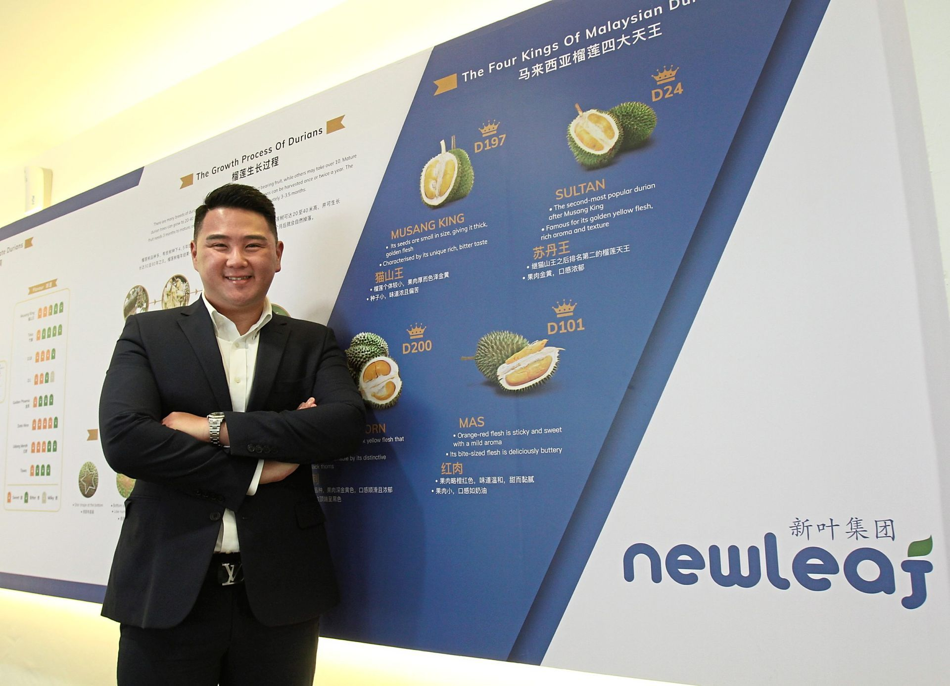 Thorny issue: Wan dismisses concerns that there would be an oversupply of fruits in the market as new durian farms mature over the next few years.