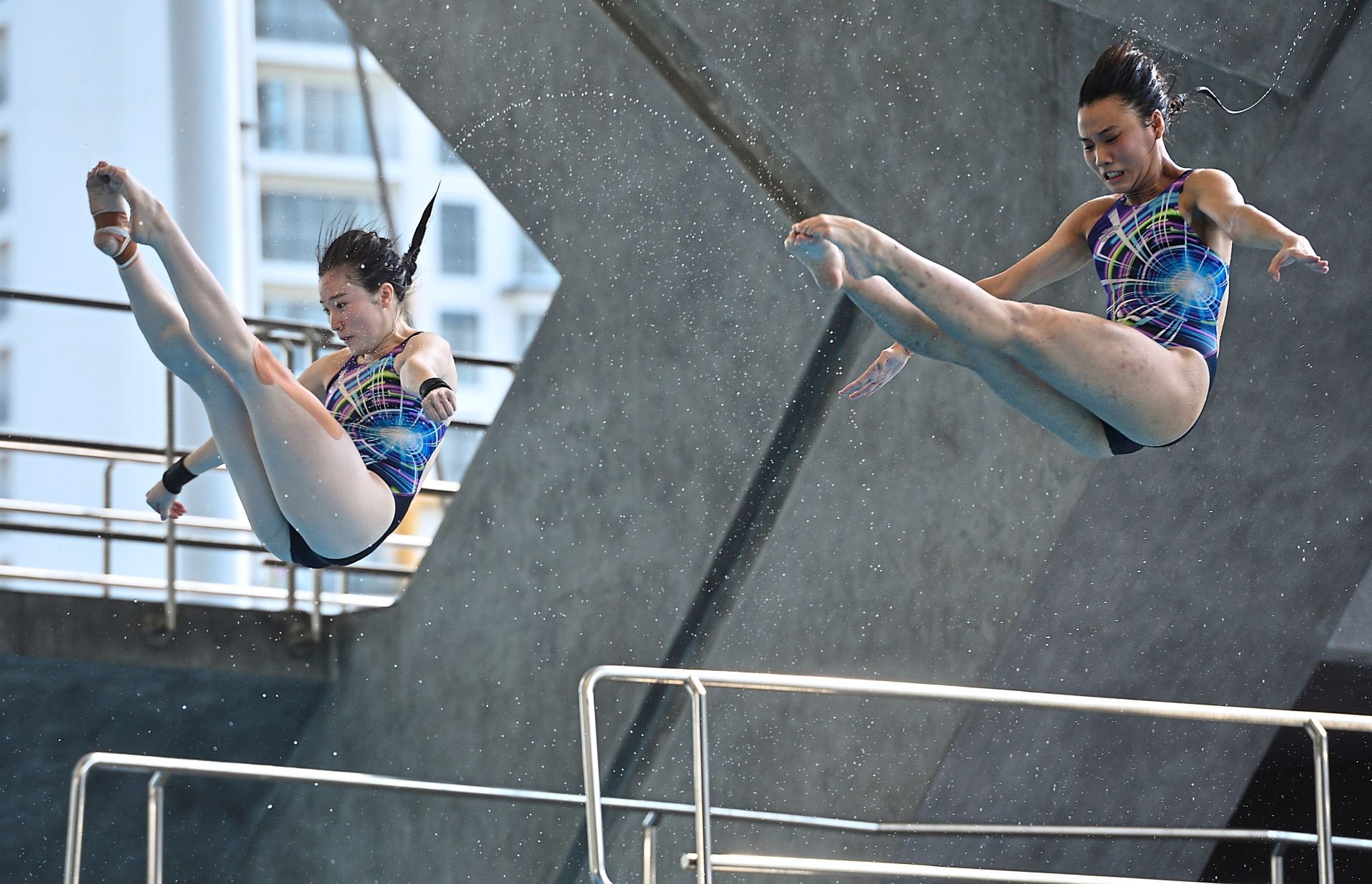 Third best: Loh Zhiayi and Jasmine Lai picked up the bronze in the 3m springboard synchro final. — RAJA FAISAL HISHAN/The Star