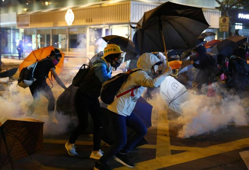 Image result for HONG KONG PROTESTS   STANDOFF BETWEEN POLICE AND PROTESTERS ENTERS DAY THREE