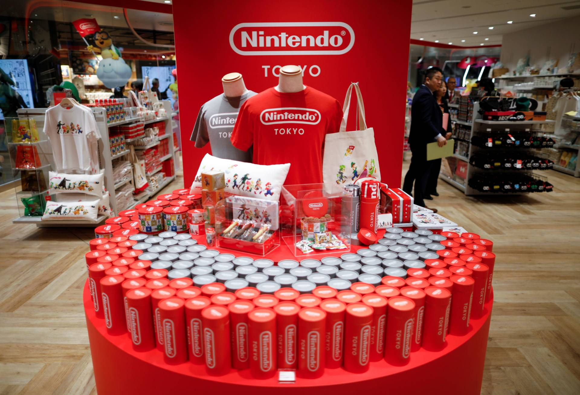 Nintendo's game character items and goods on display at Nintendo Tokyo, the first-ever Nintendo official store in Japan, at Shibuya Parco department store and shopping mall complex, in Tokyo, Japan. — Reuters