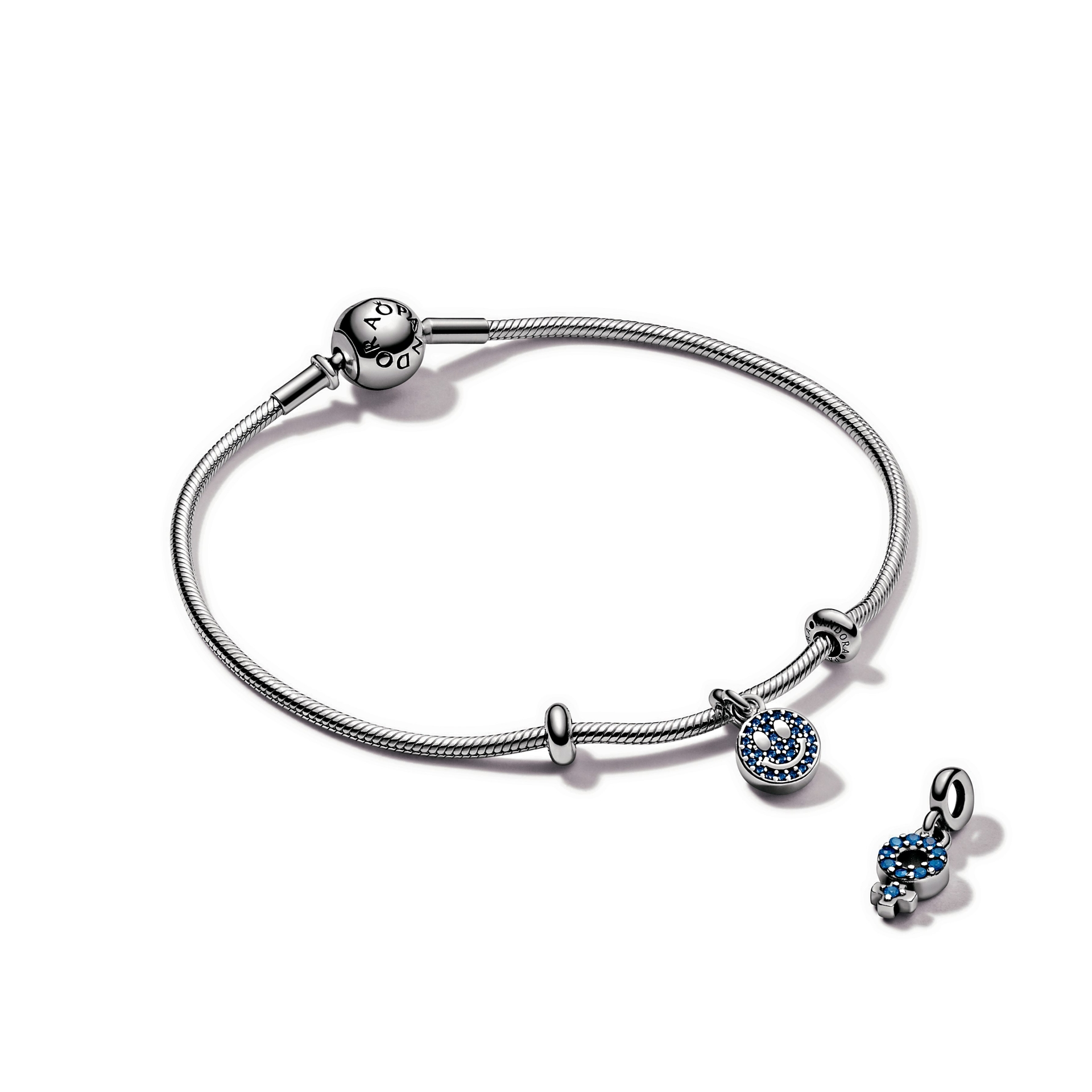 Beautiful charms, hand-finished with blue crystals.