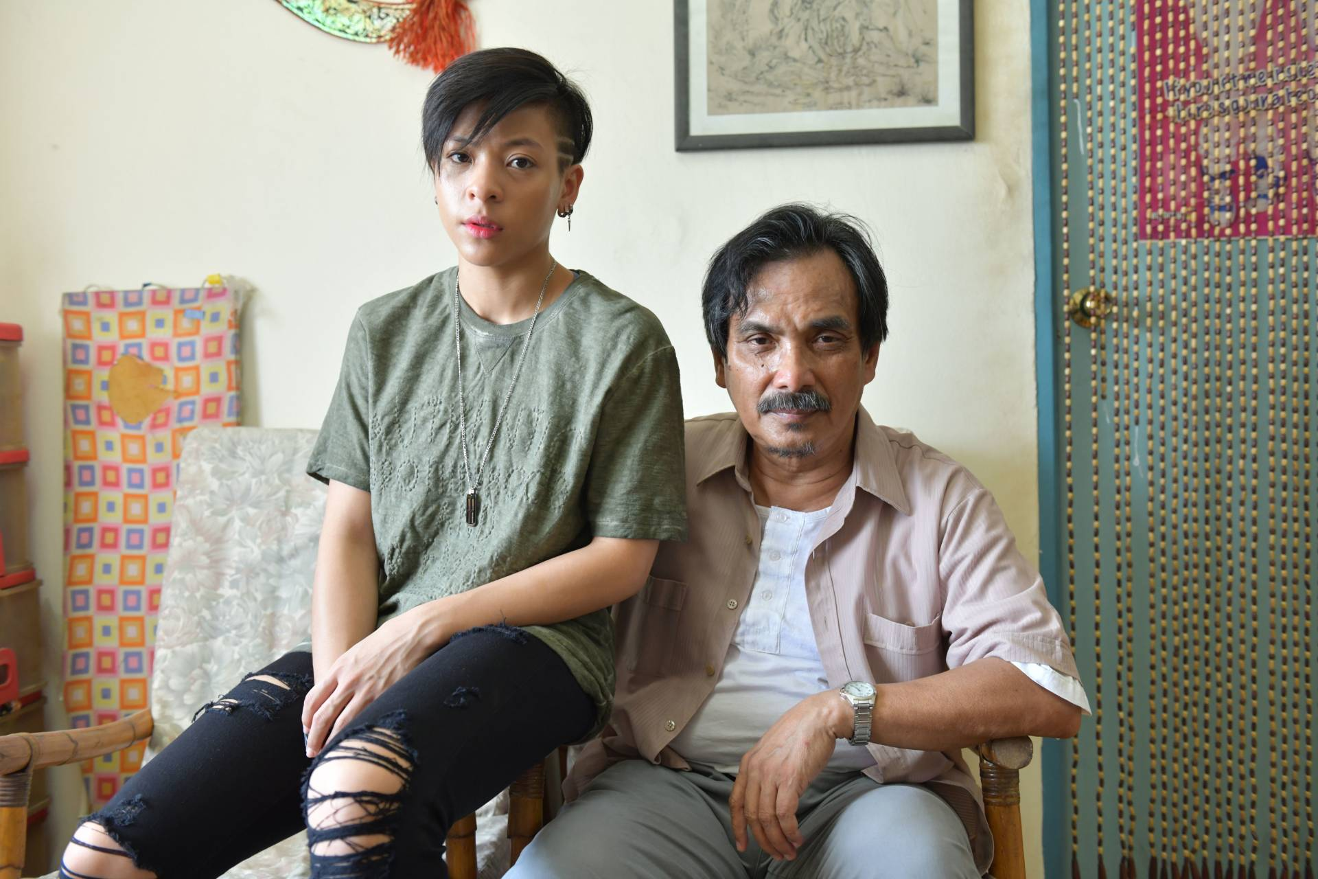 Fify says she got a lot of acting tips from Datuk Hilal Azman who plays her character's father in 'Wira'. Photo: GSC Movies