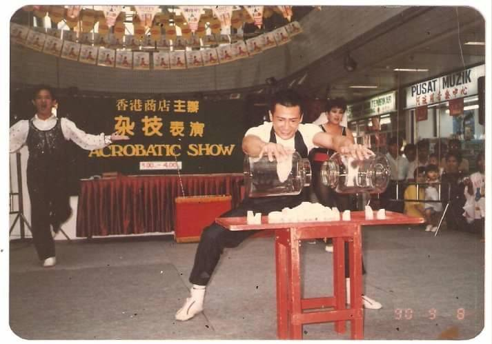 Before doing stunts, Wong got his start in an acrobatic troupe during his early 20s.