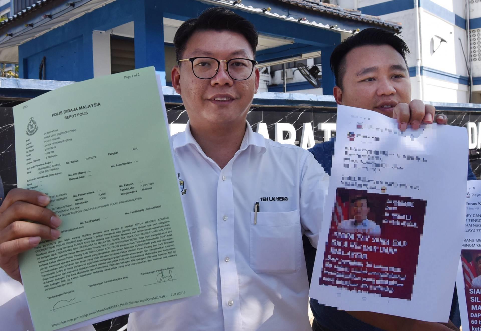 Police Report Lodged Against Fb User Over Post Slandering Penang Cm The Star