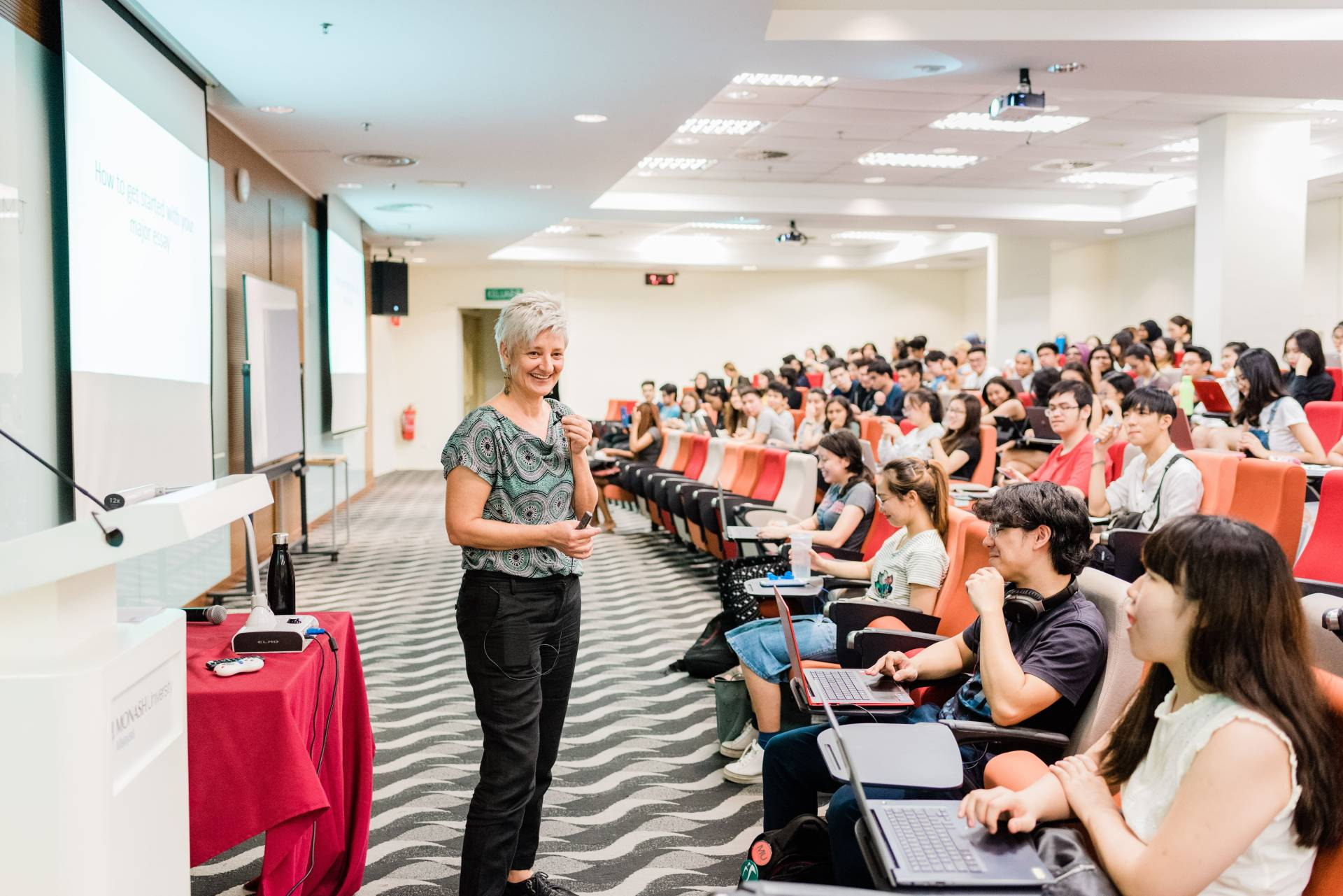 "A Monash degree gives students ""international mobility""."