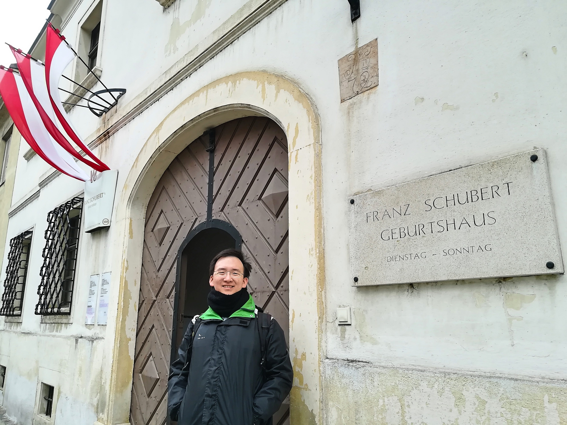 Phang at Austrian composer Franz Schubert's birth house in Vienna, Austria, in March this year. — PHANG LEE JOAN
