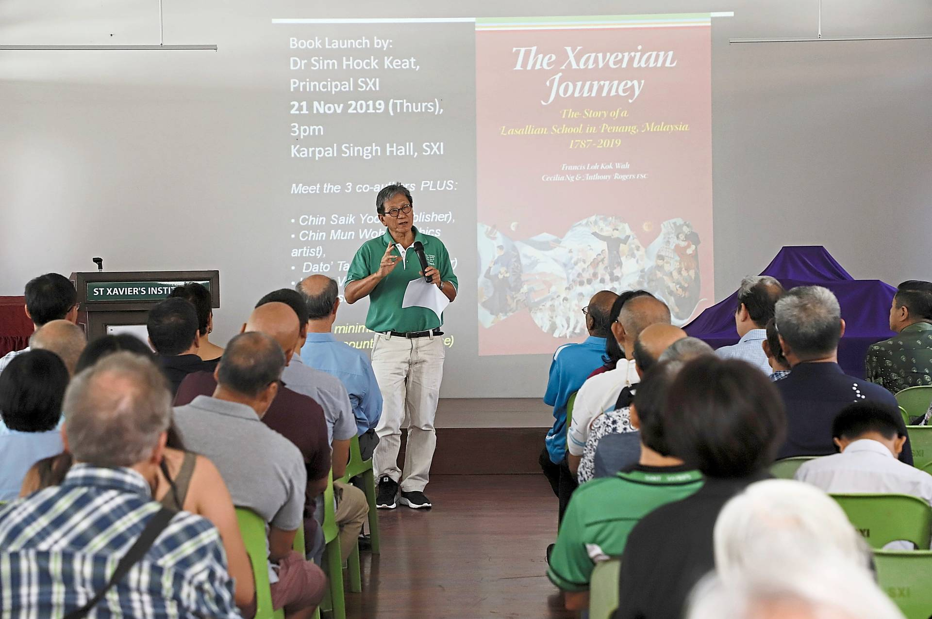 Loh speaking at the book launch.